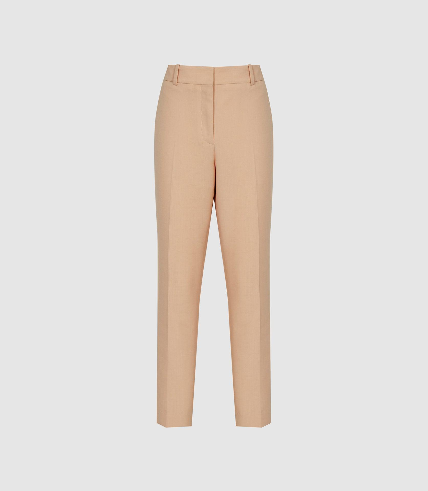 EVELYN - WOOL LINEN BLEND SLIM FIT TROUSERS 5
