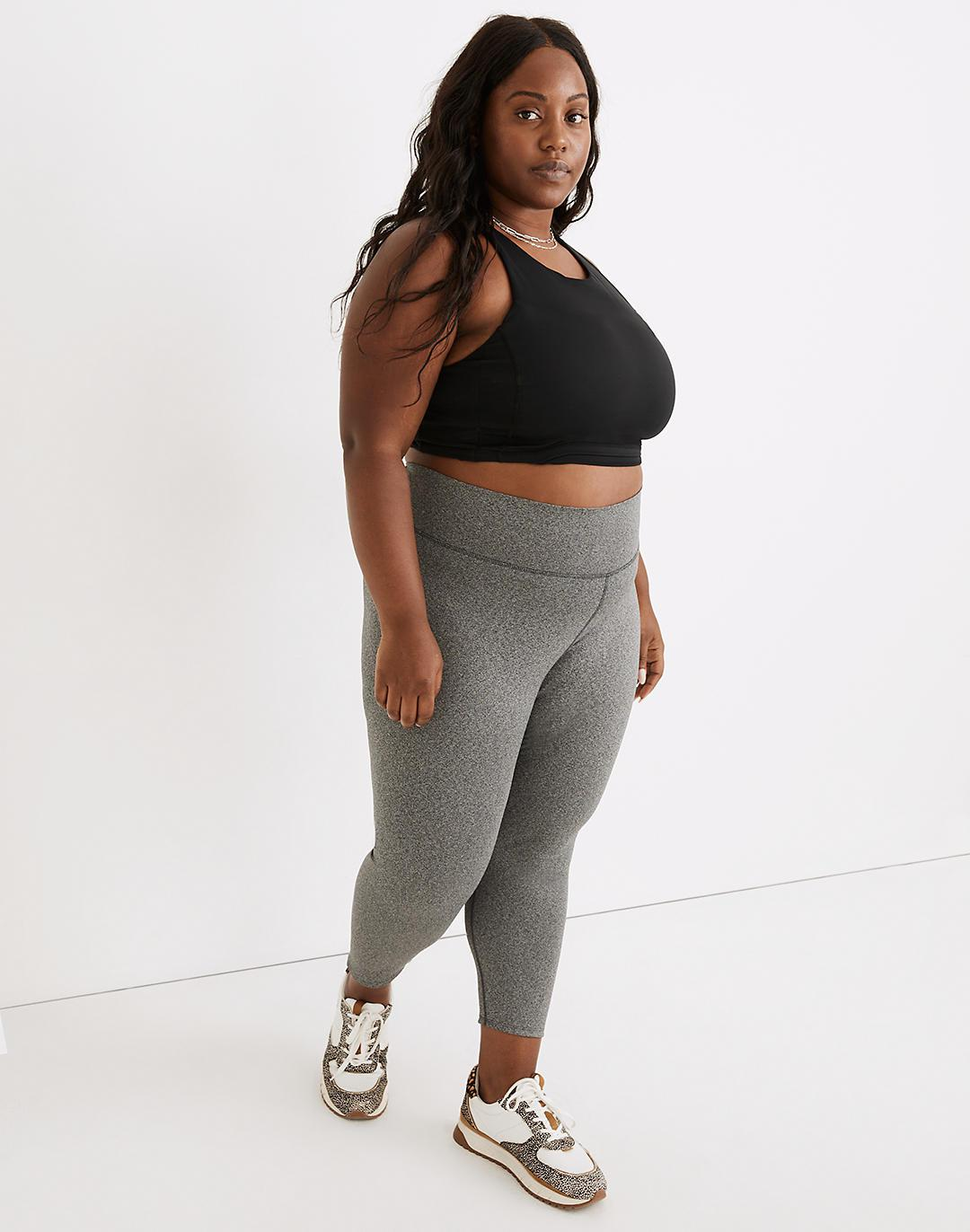 """Plus Curvy MWL Form High-Rise 25"""" Leggings in Heathered Charcoal"""