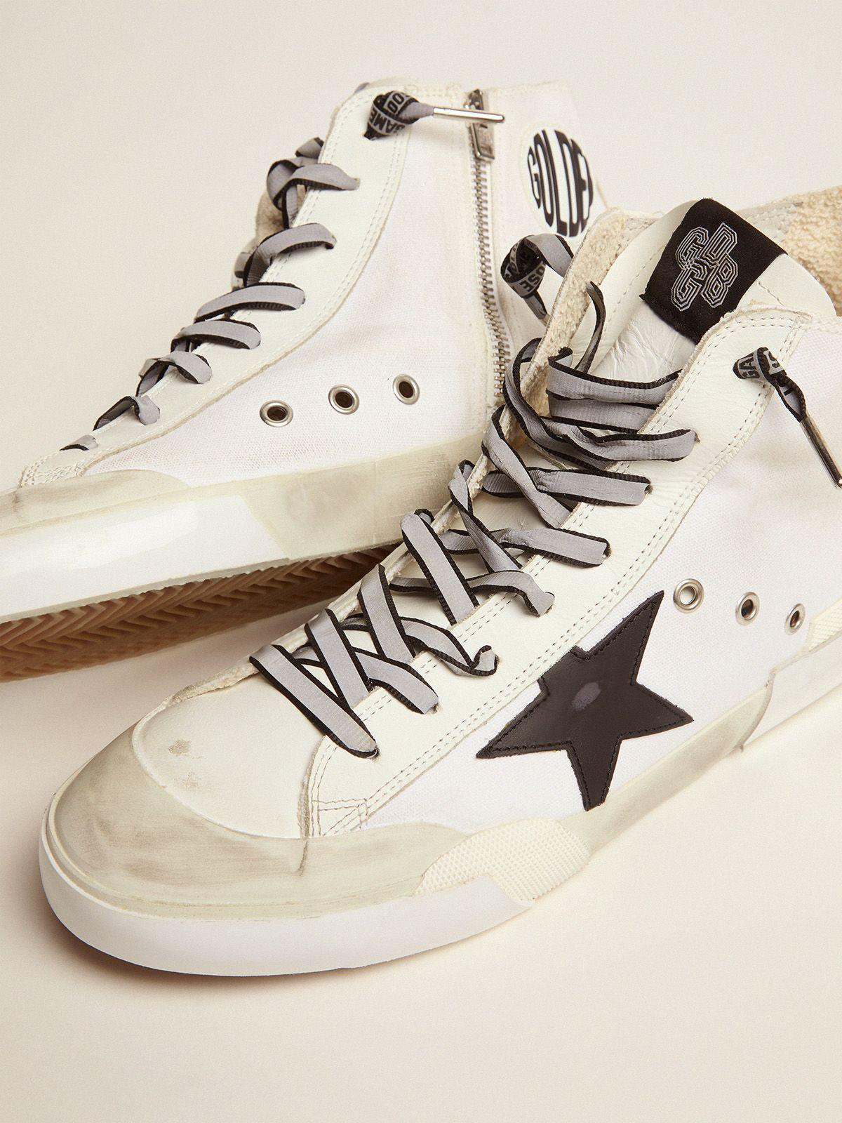 Francy Game EDT Capsule Collection sneakers with white canvas upper and multicolored screen print 2