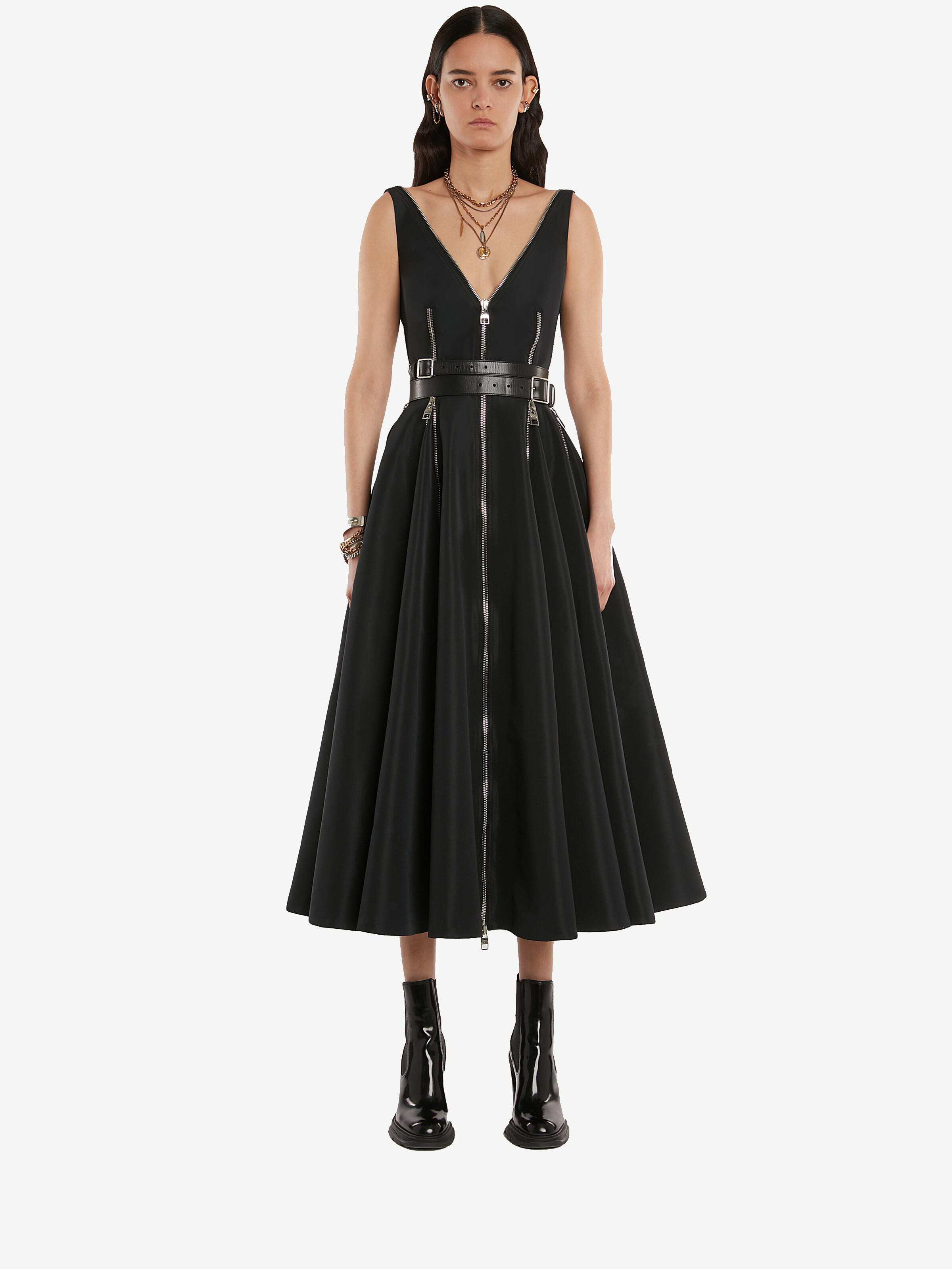 Pieced and panelled dress