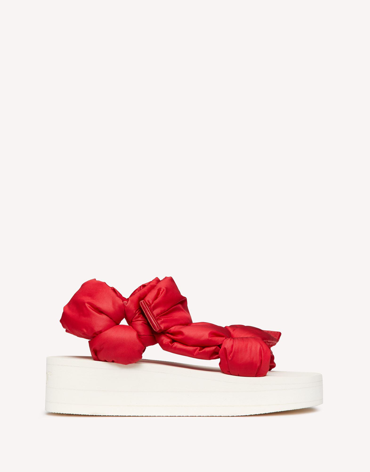 RED PUFFY STRAP SANDAL