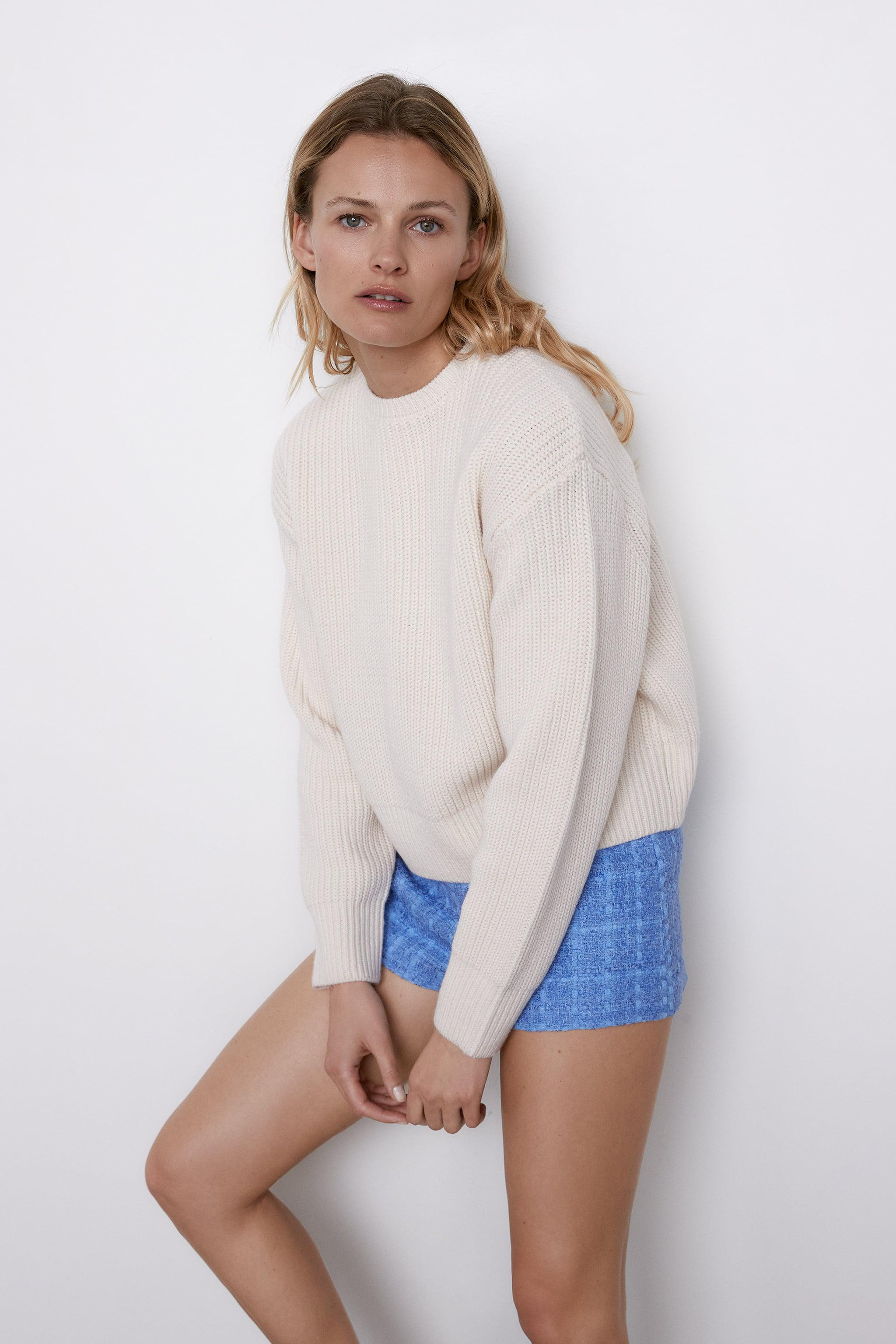 CROPPED LONG SLEEVE SWEATER 4