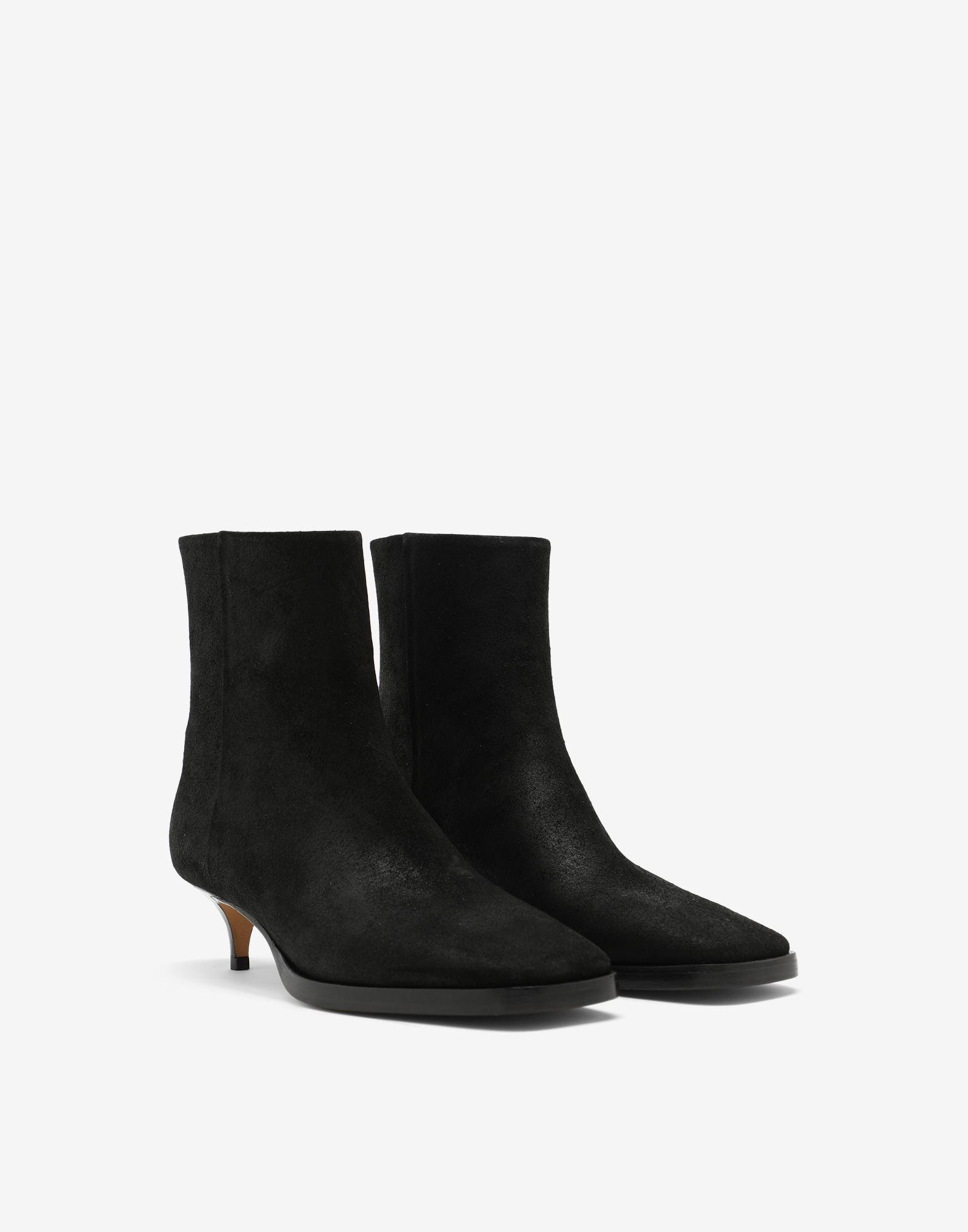 Suede ankle boots 1
