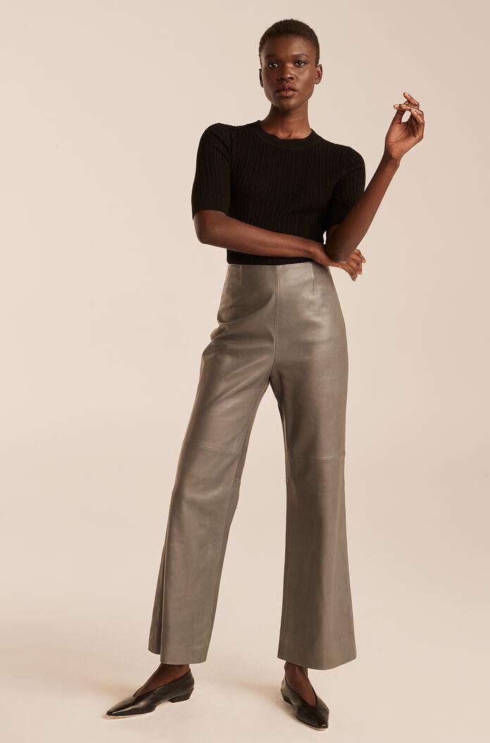 LEATHER ANKLE PANT