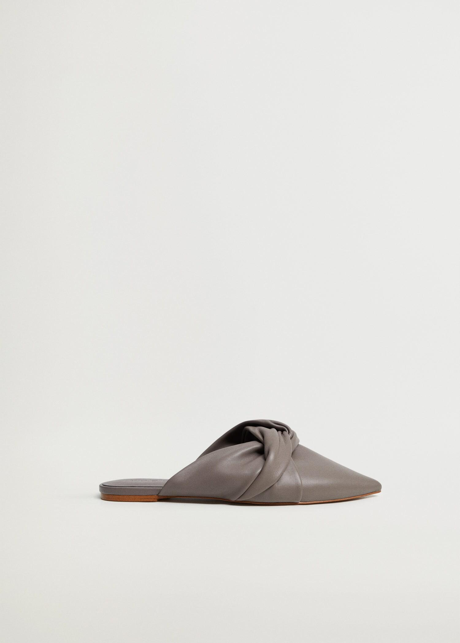 Bow leather mules 0