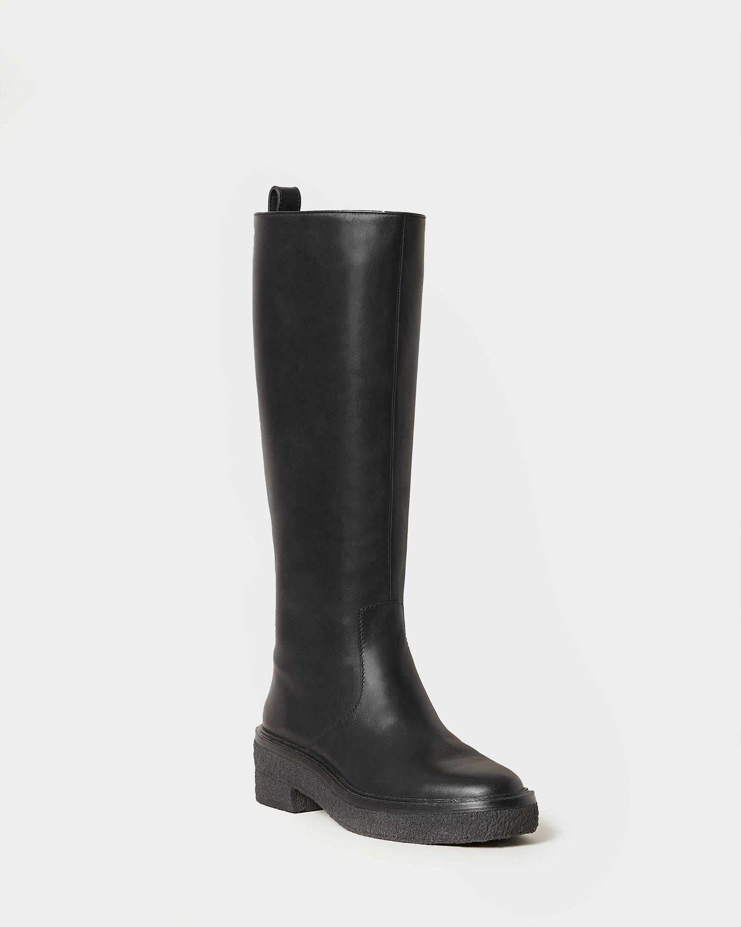 Collins Black Tall Boot