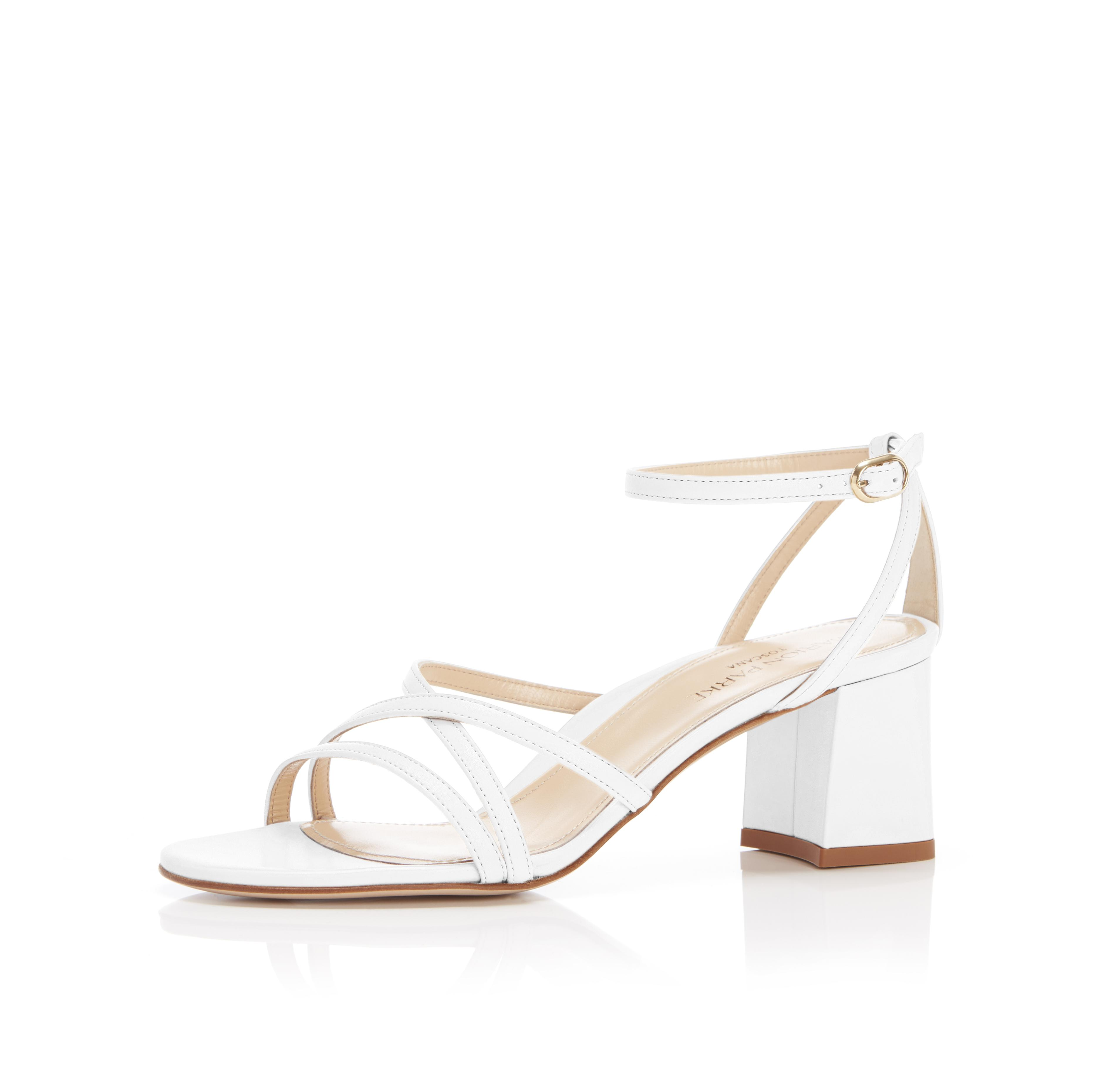 Bianca | Strappy Leather Block Heel Ankle Tie Sandal 1