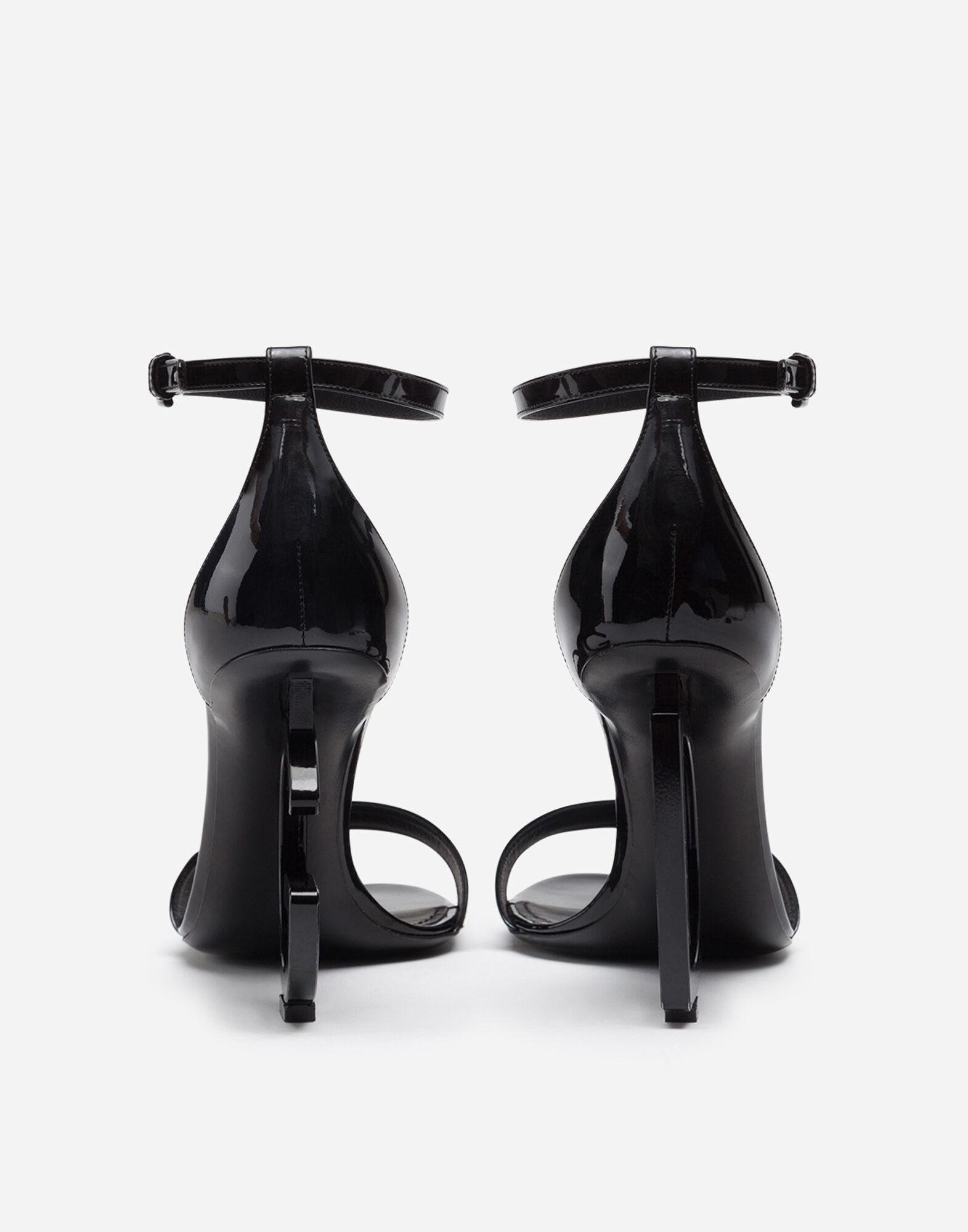 Patent leather sandals with DG heel 2