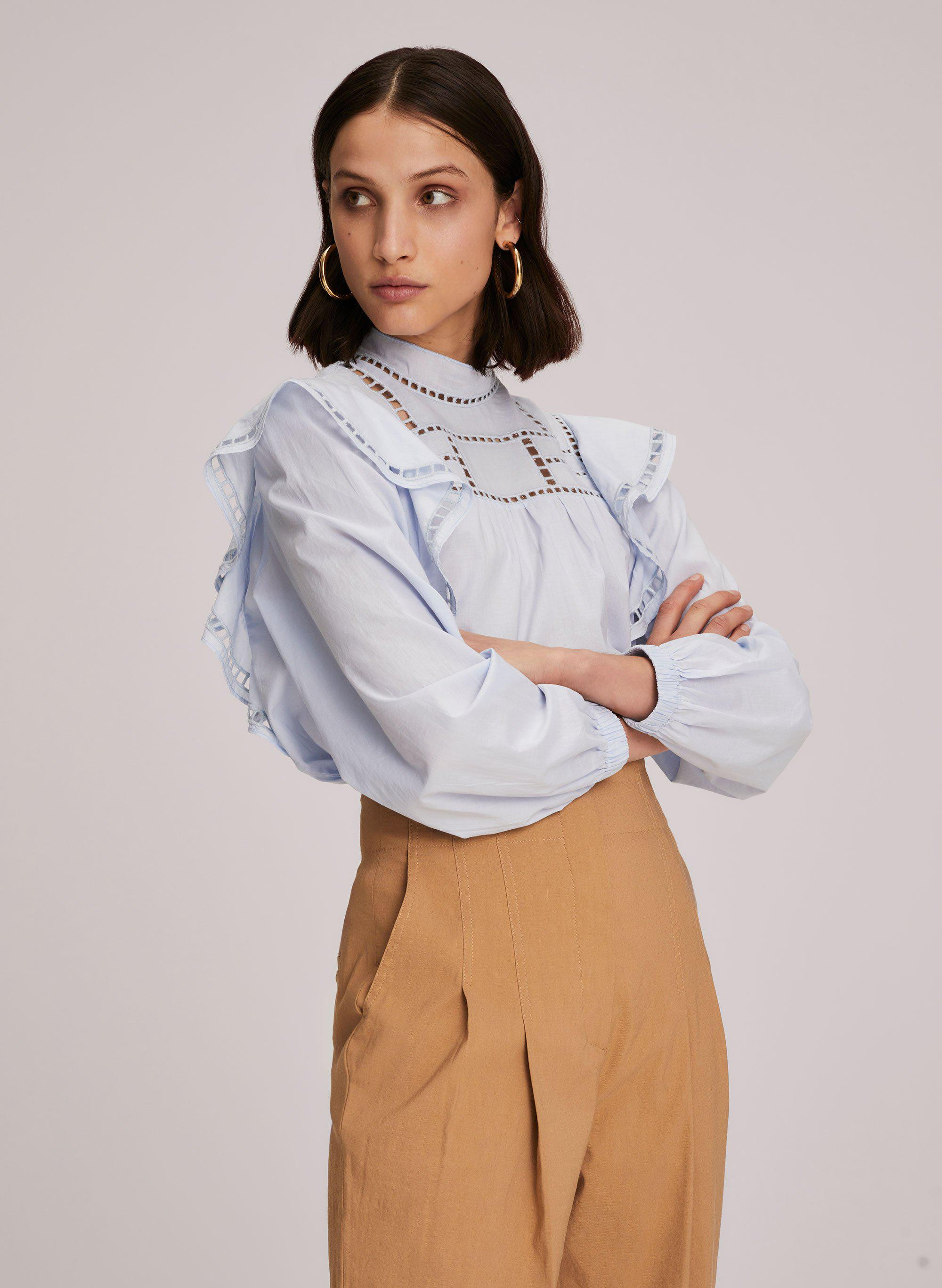 Leanne Embroidered Cotton Top