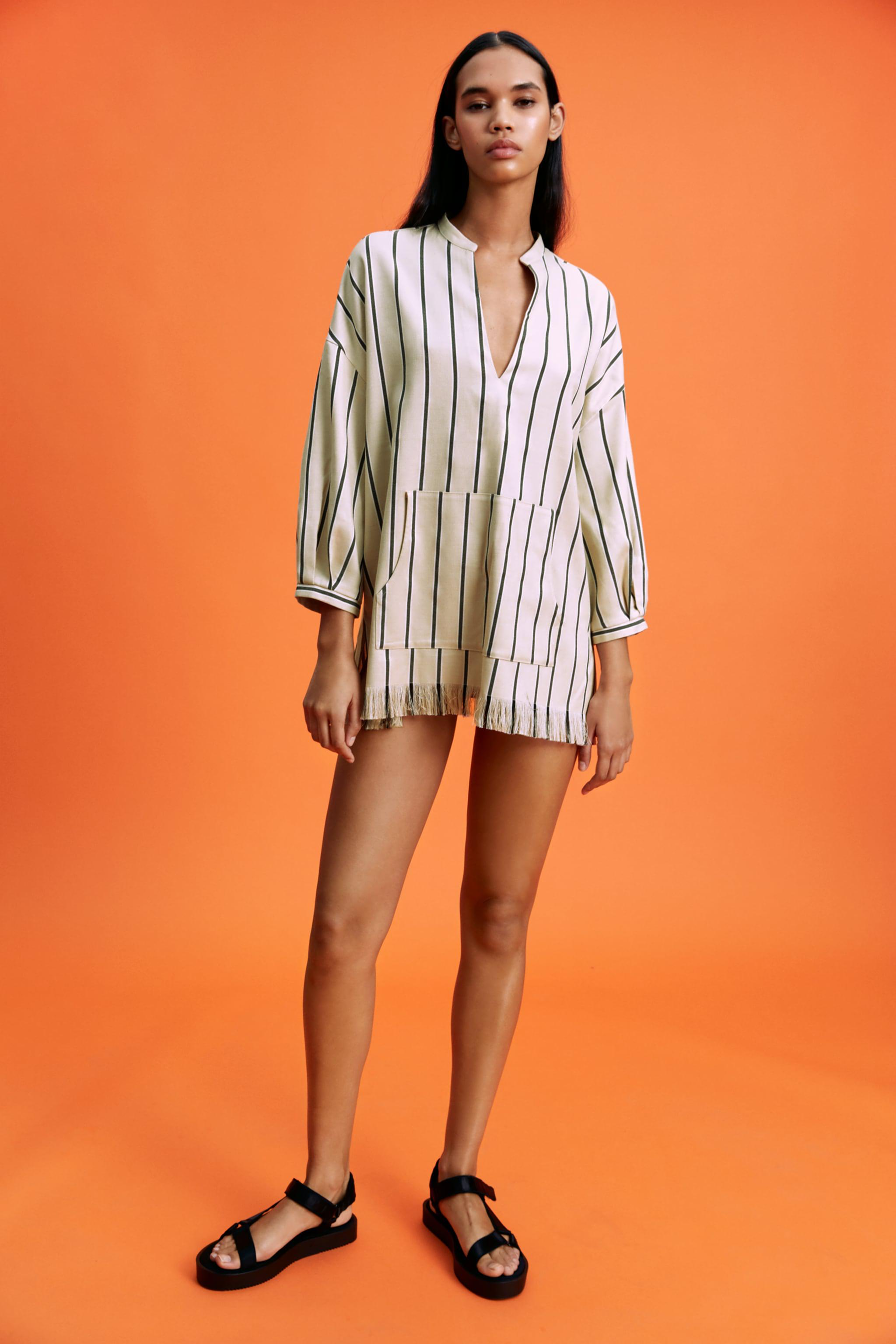 STRIPED RUSTIC BLOUSE