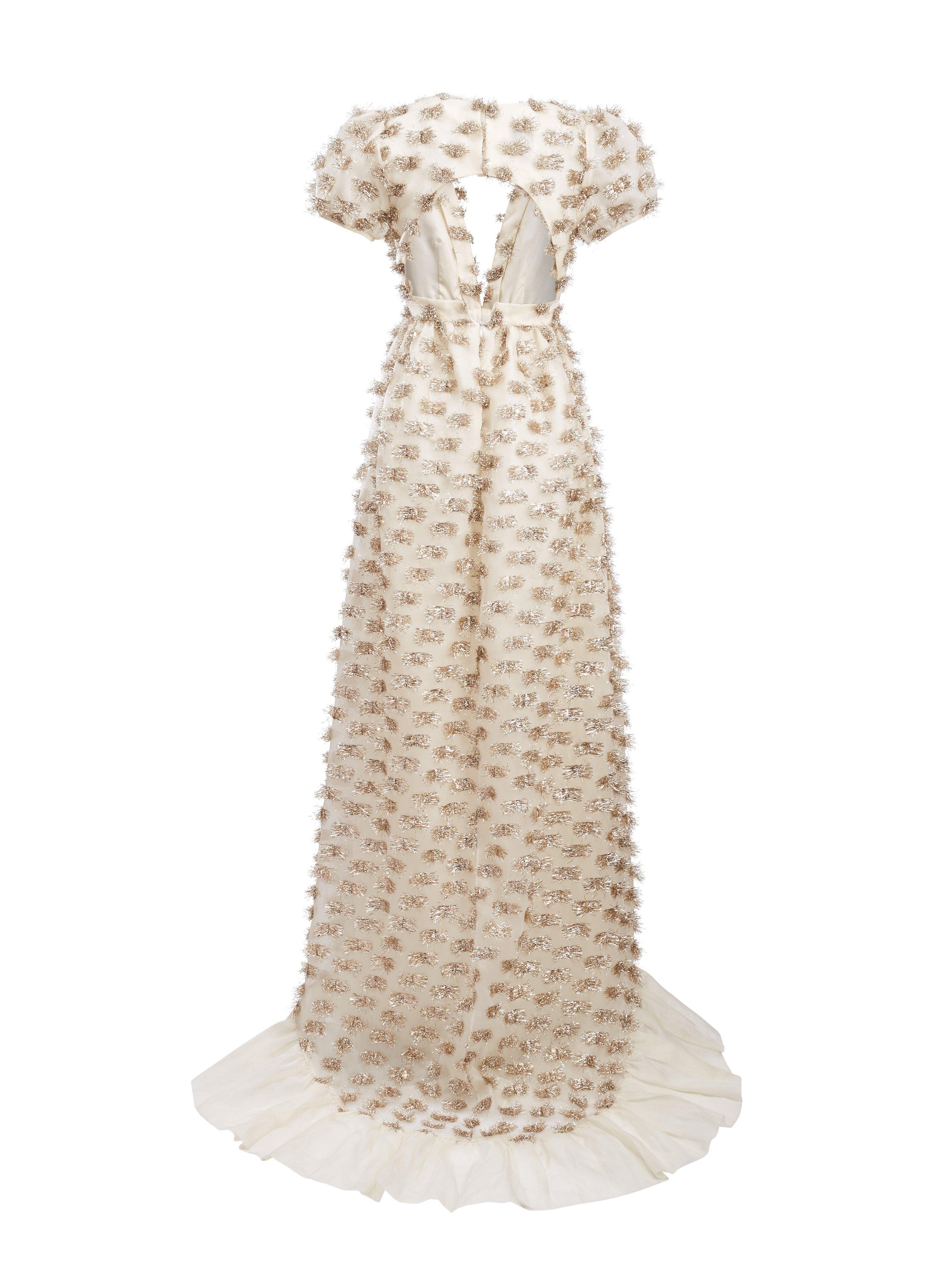 Forget Me Not White and Gold Gown 2