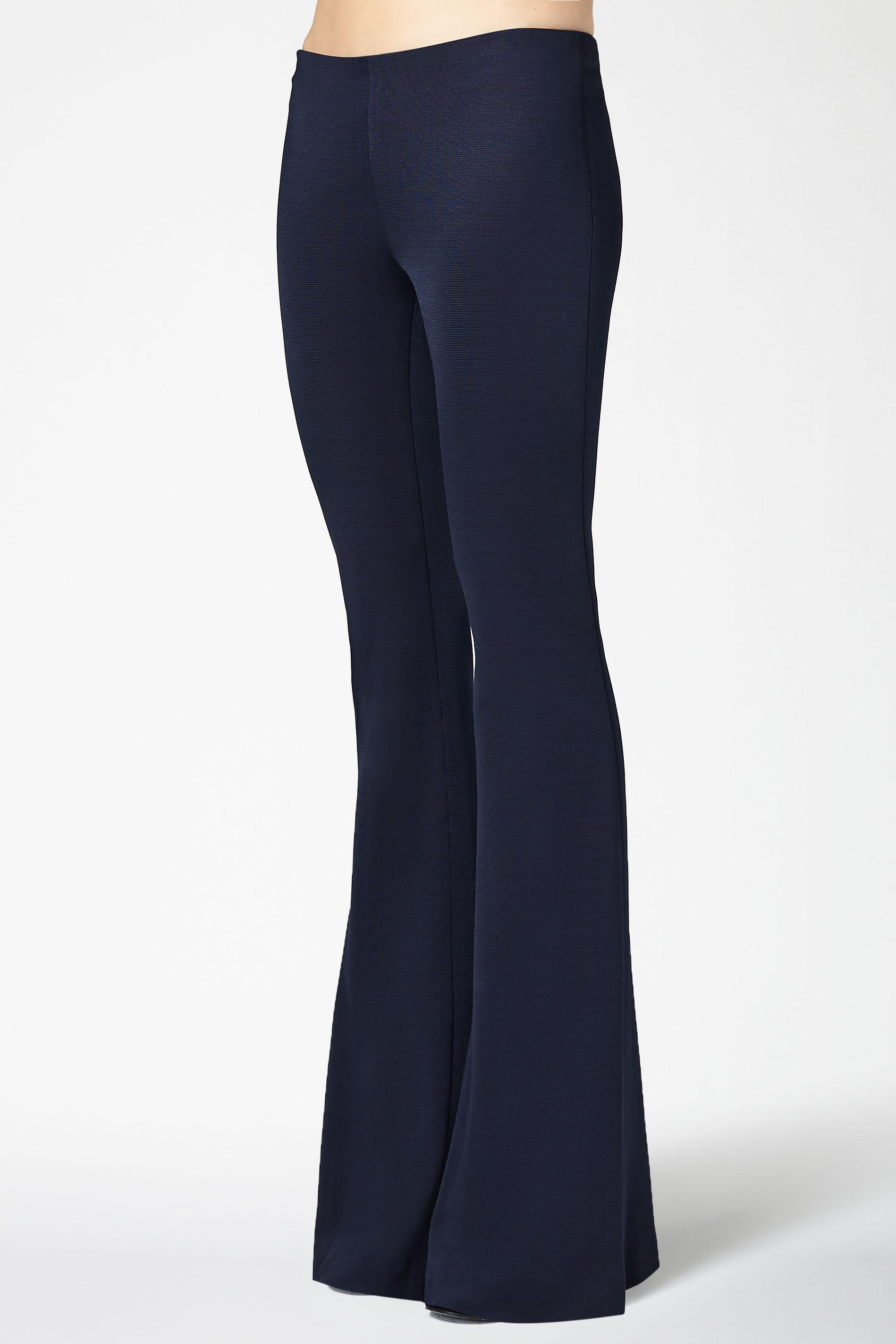 Jersey Flared Trousers - Midnight