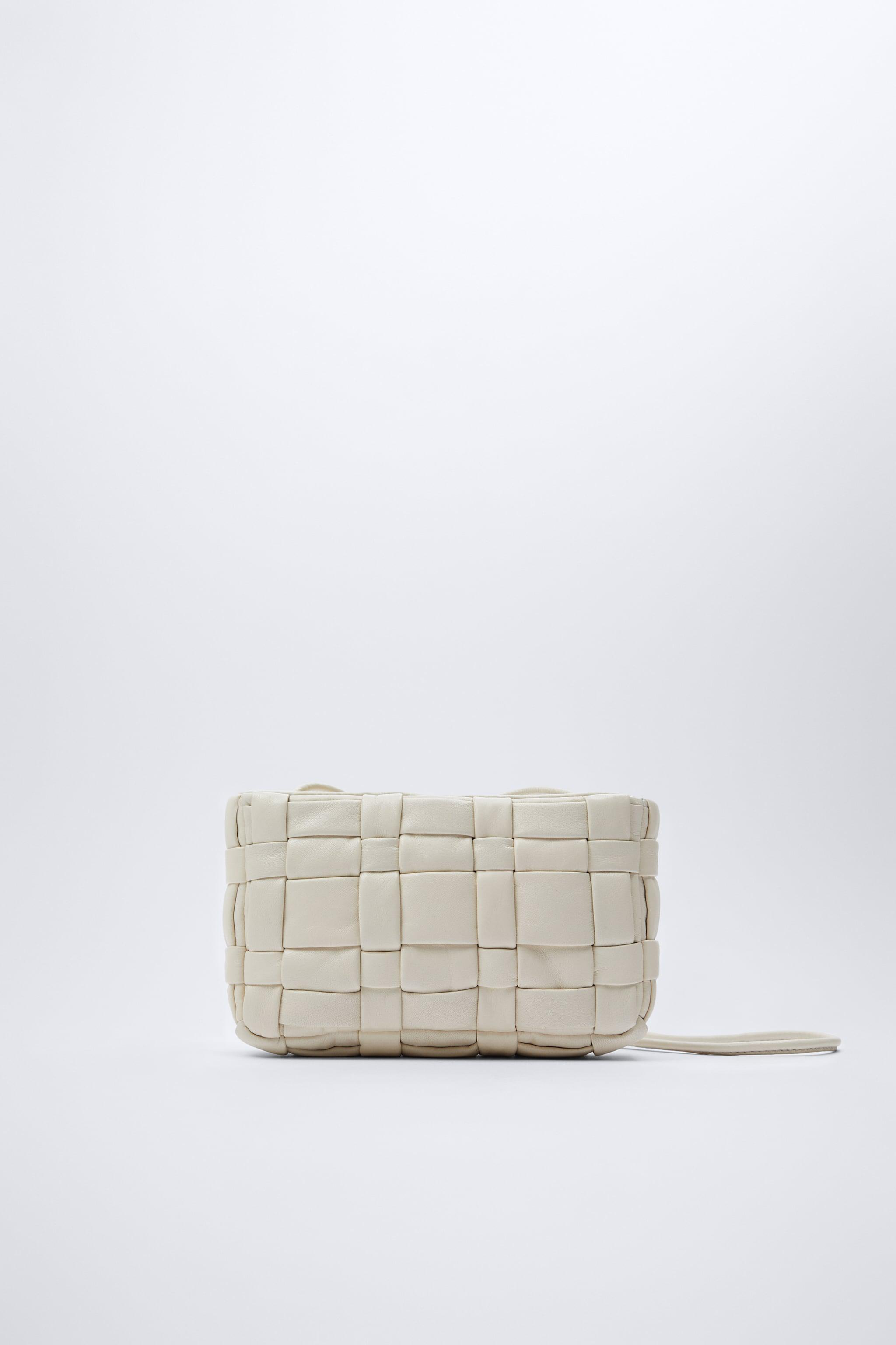 WOVEN QUILTED LEATHER CROSSBODY BAG