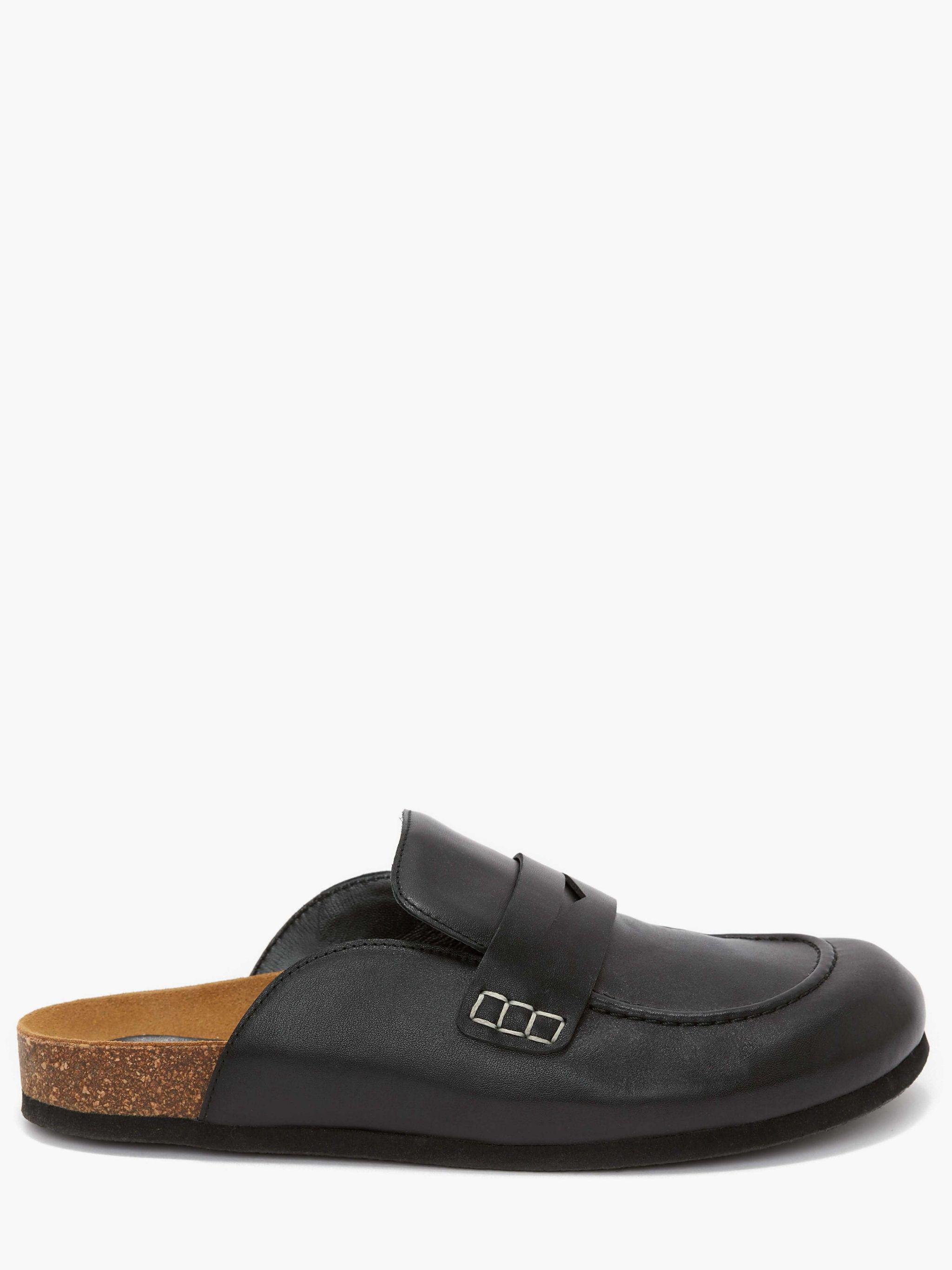 WOMEN'S LEATHER LOAFER MULES