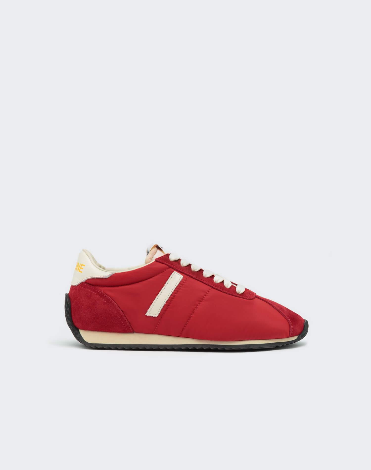 70s Runner Shoe - Red and White