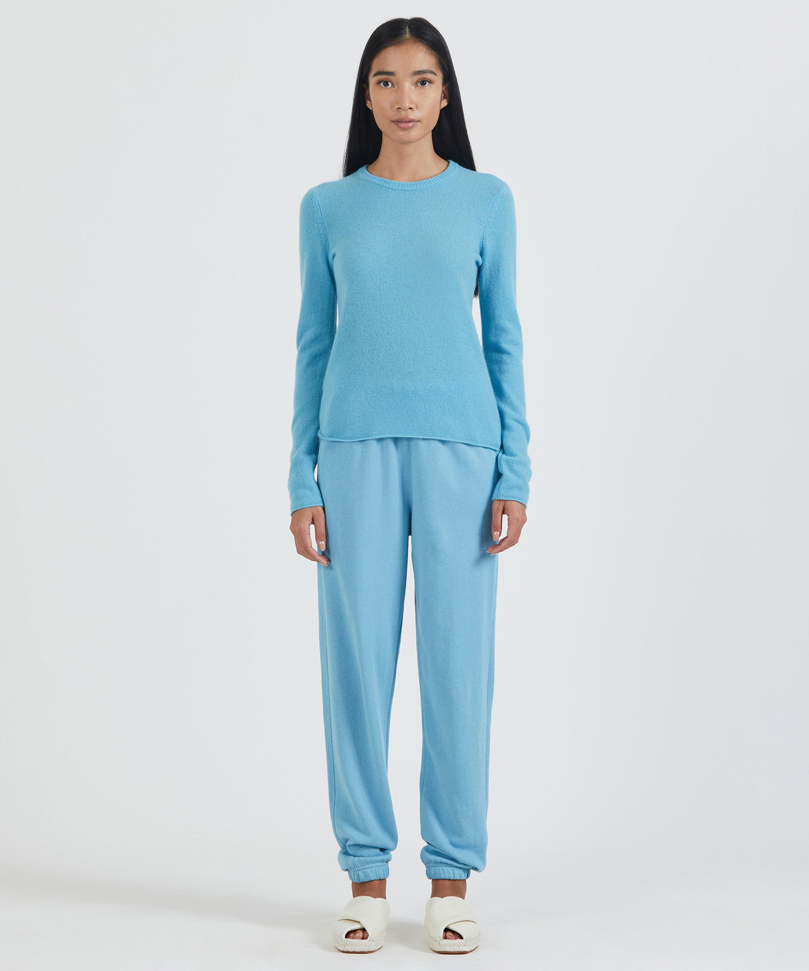 French Terry Pull-On Pant - Ocean Blue 4