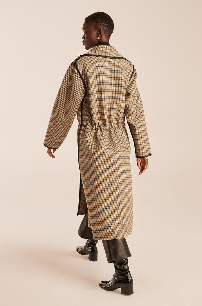 DOUBLE FACED WOOL TRENCH COAT 1