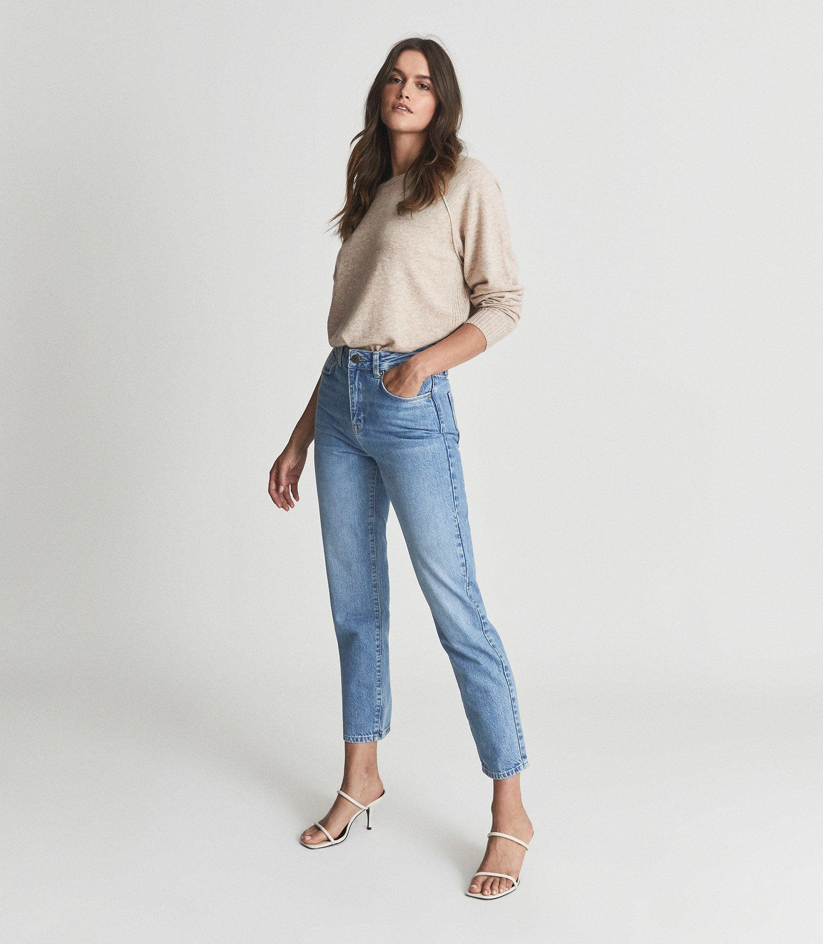 RAYE - HIGH RISE SLIM STRAIGHT FIT JEANS