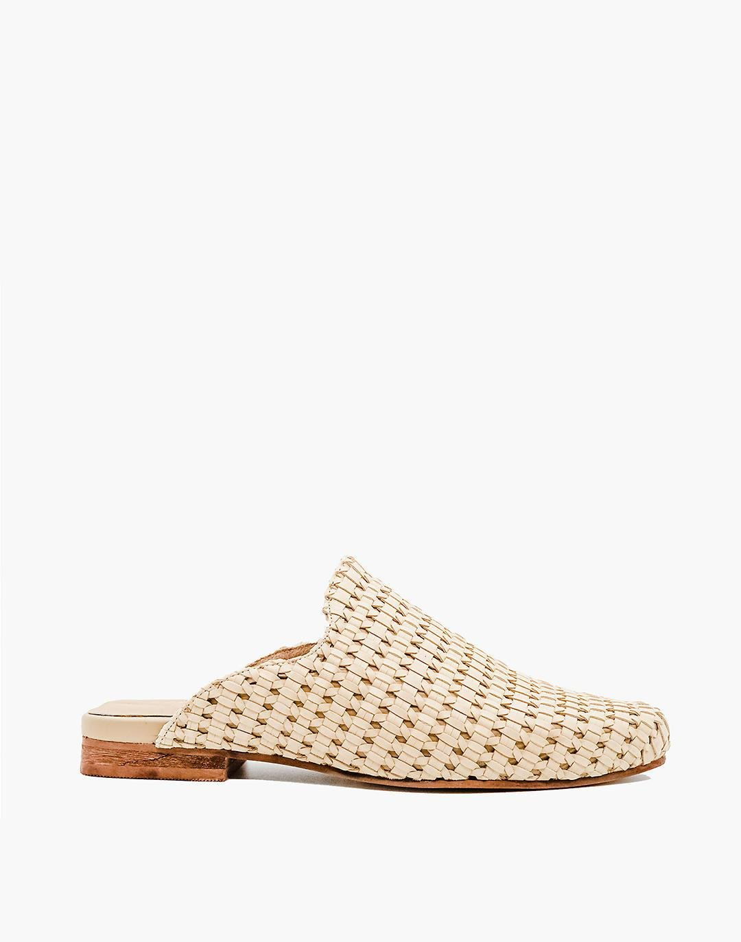 KAANAS Mustique Woven Square-Toe Mules