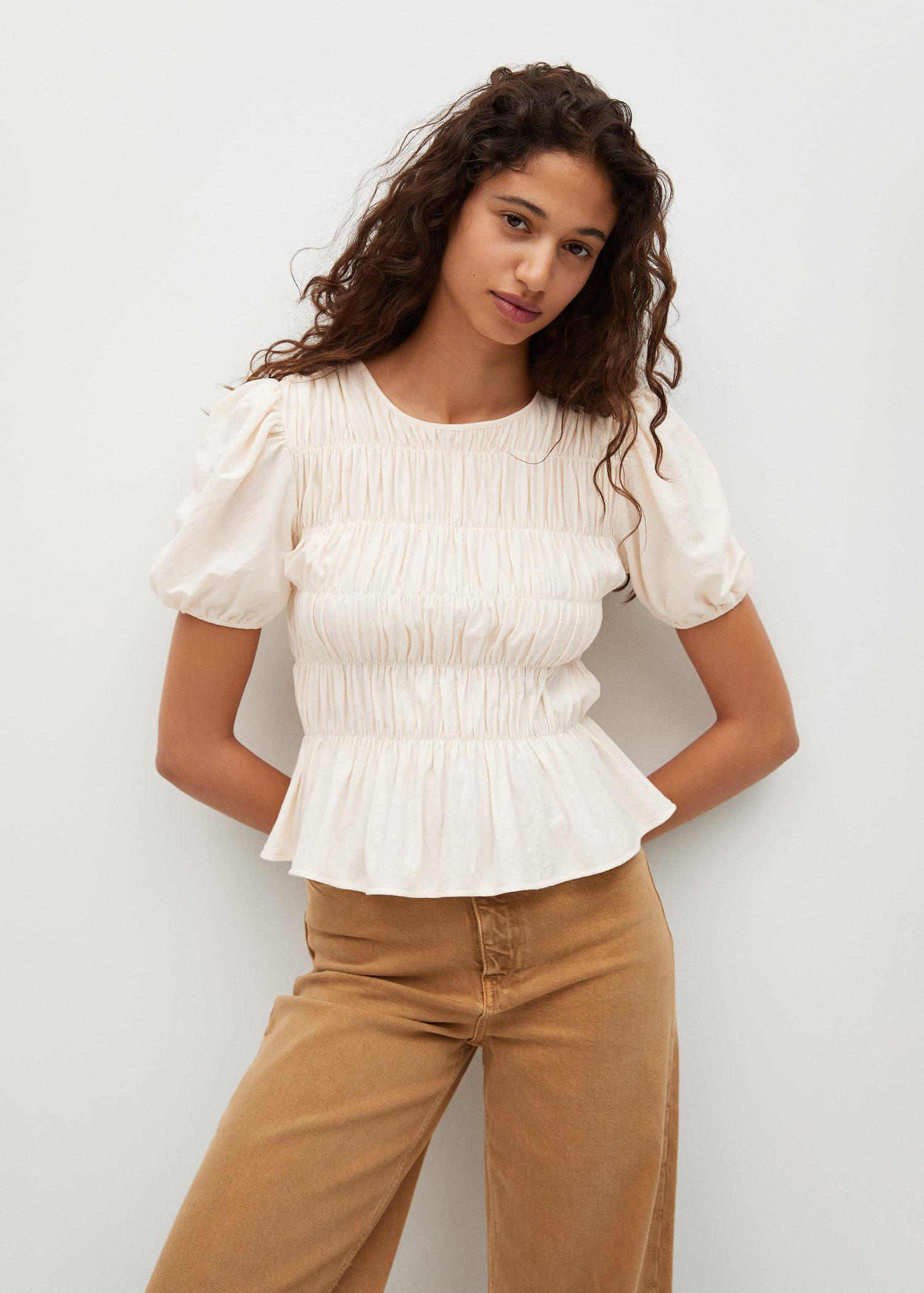 Ruched detail T-shirt