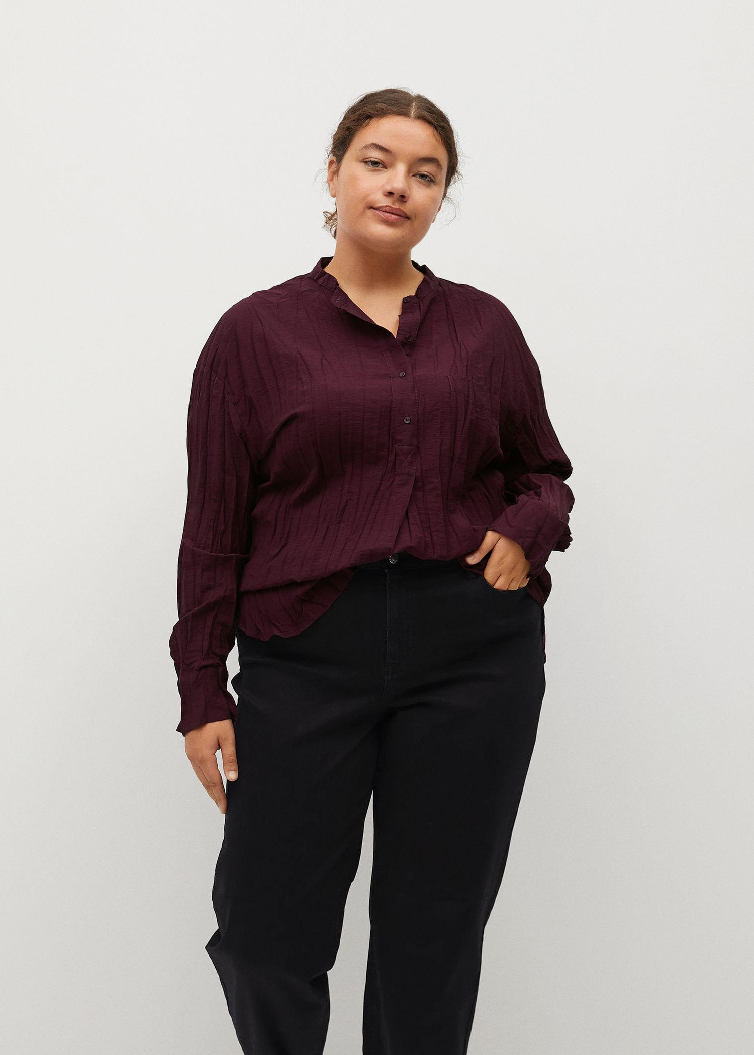 Creased blouse