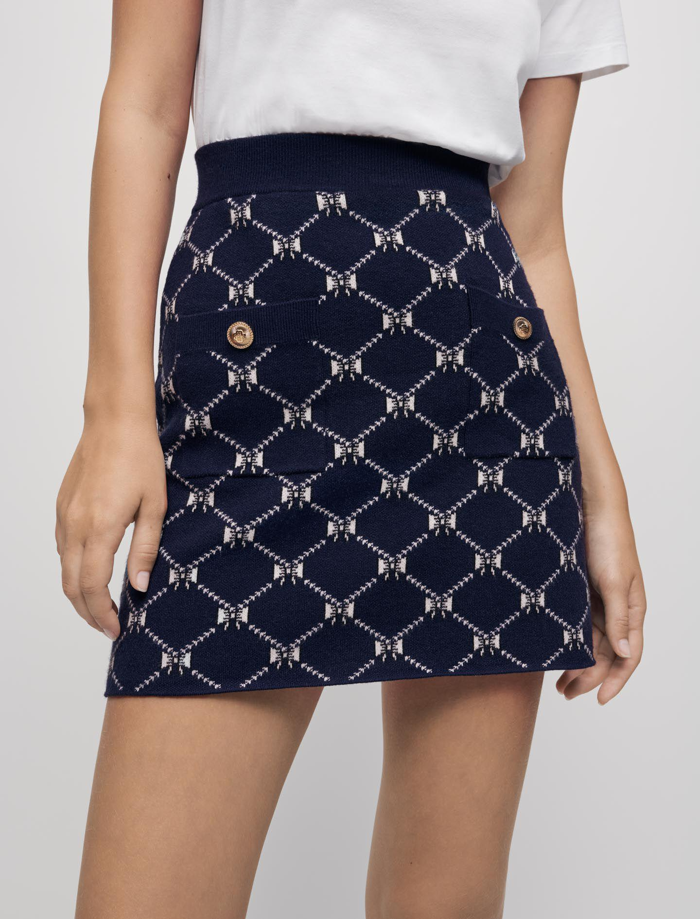 JACQUARD KNIT SKIRT WITH BOWS 2
