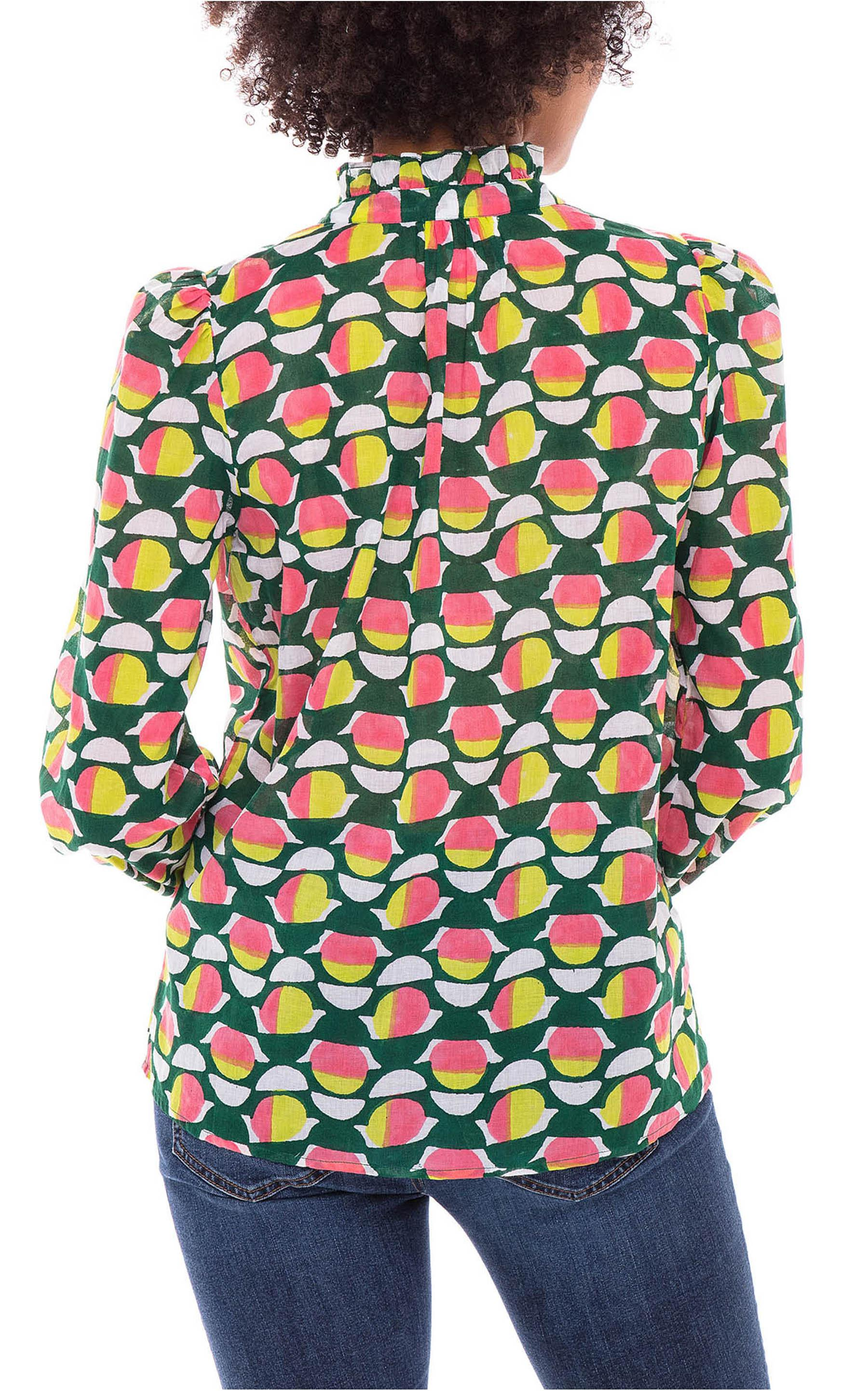 Chrissie Shirt Curlew Curve Lime Green 2