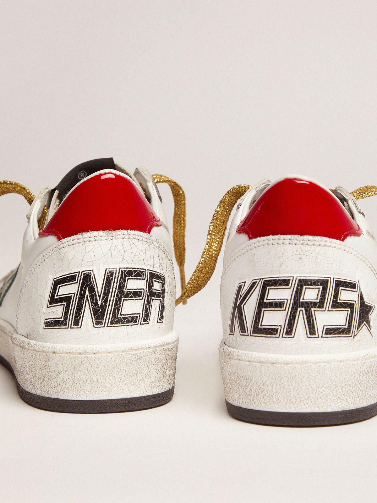 Ball Star sneakers with green star and red heel tab 3