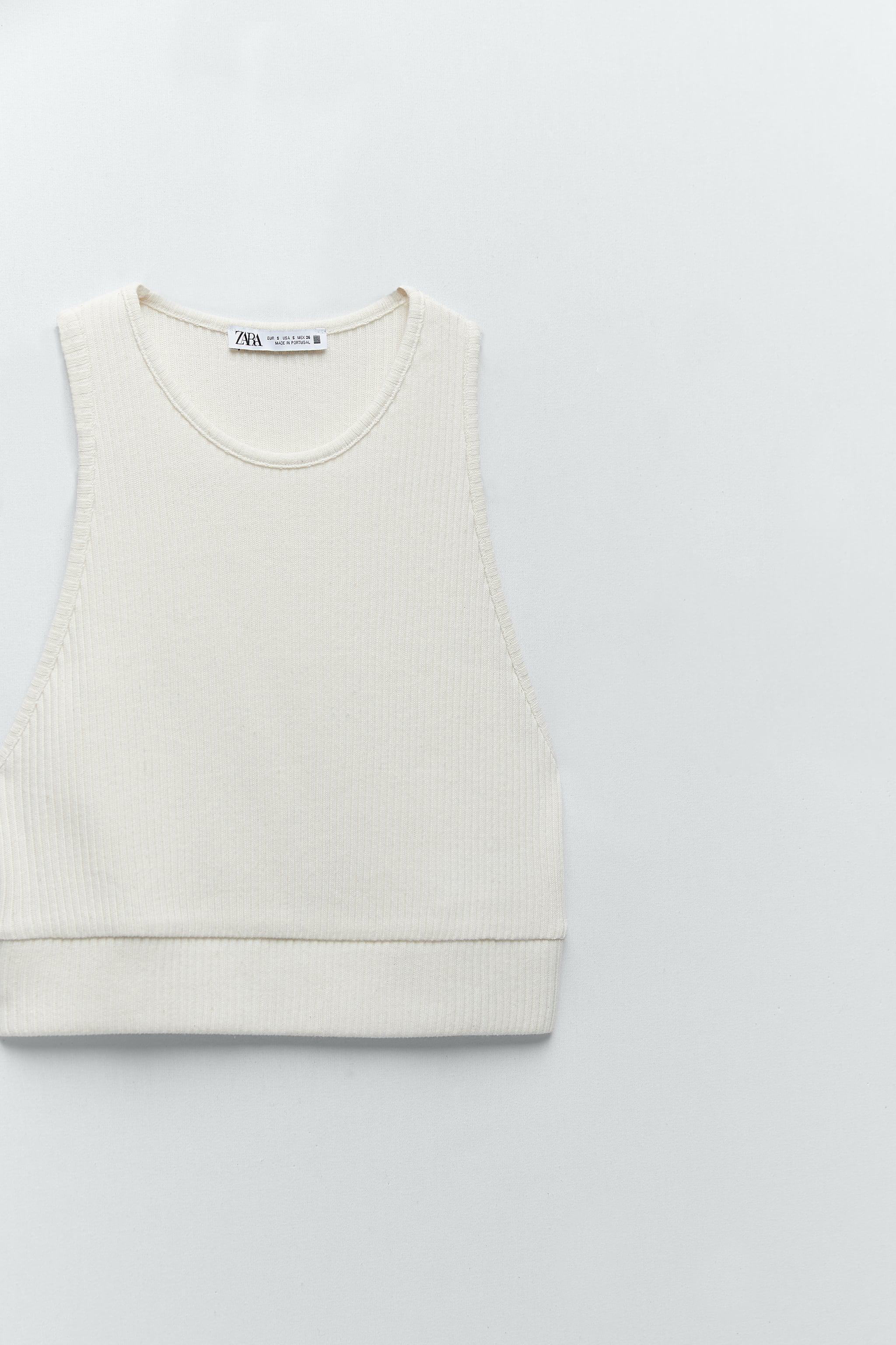 CROPPED RIBBED T-SHIRT 6