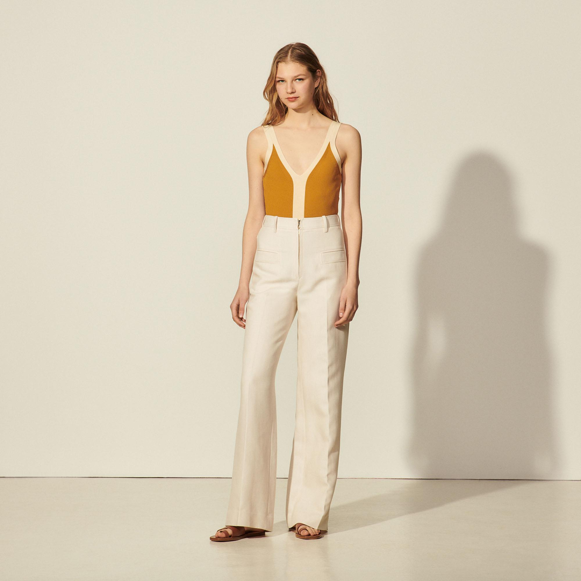 Pants with center front zip 3