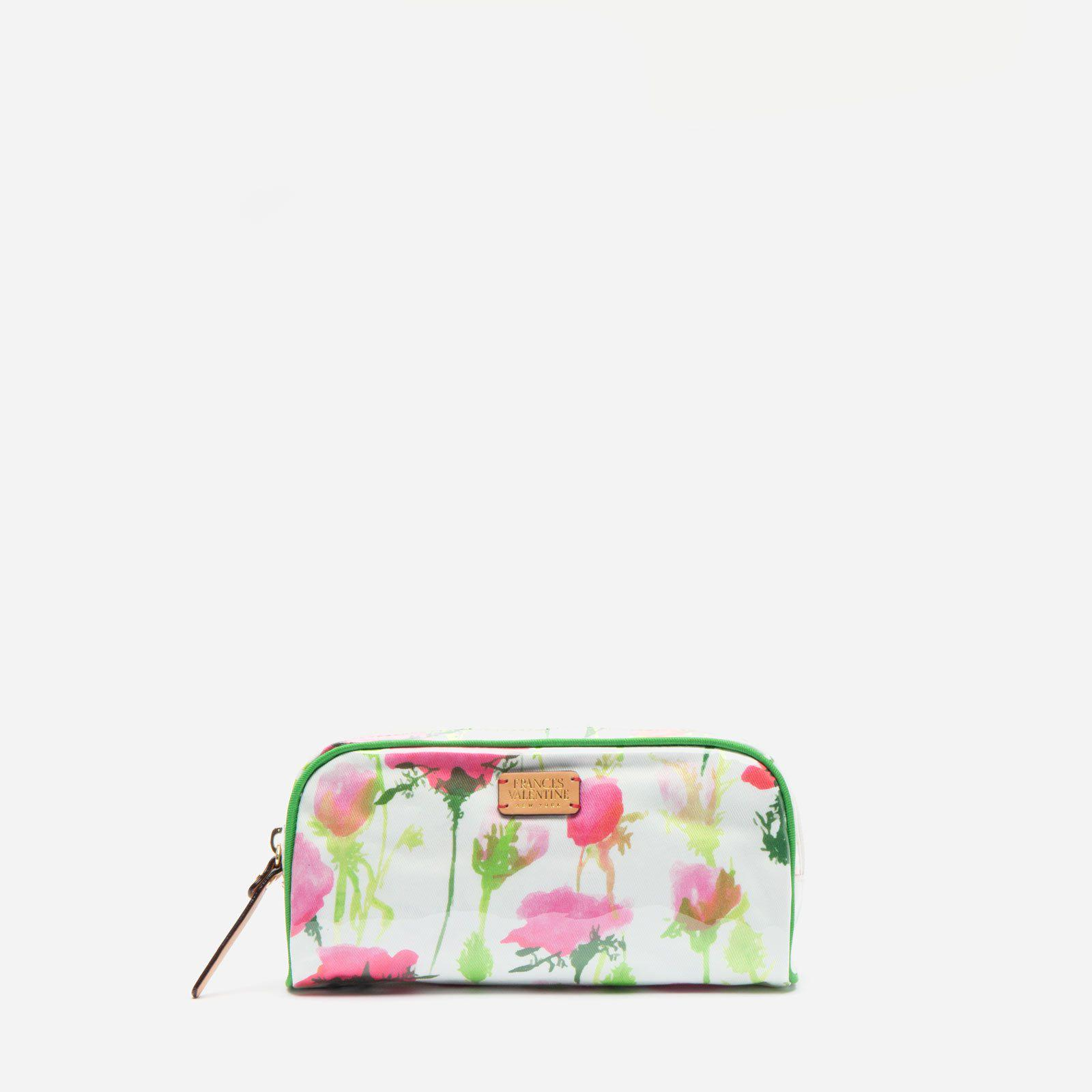 Small Cosmetic Rose Print Pink