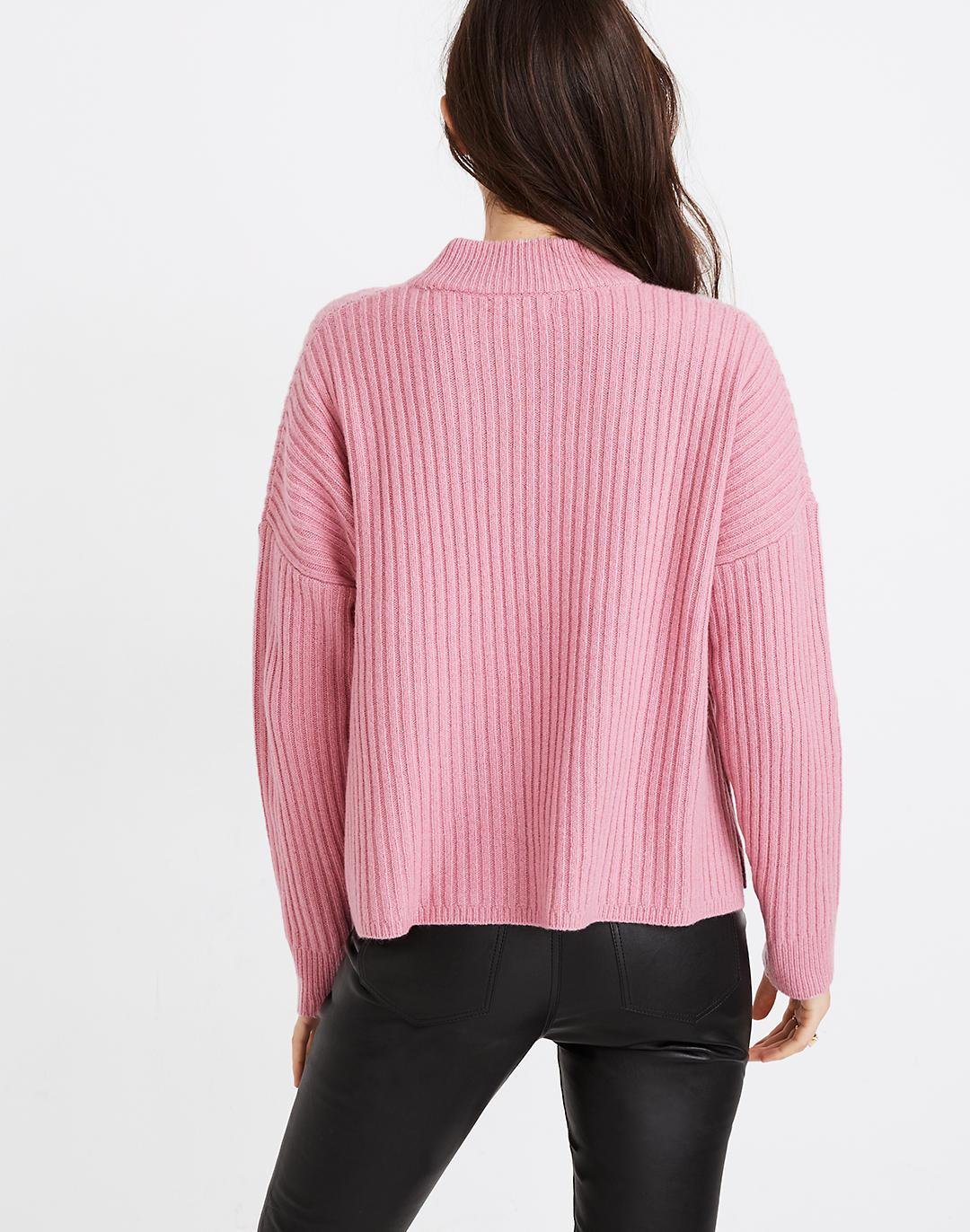 (Re)sourced Cashmere Ribbed Mockneck Pullover Sweater 2