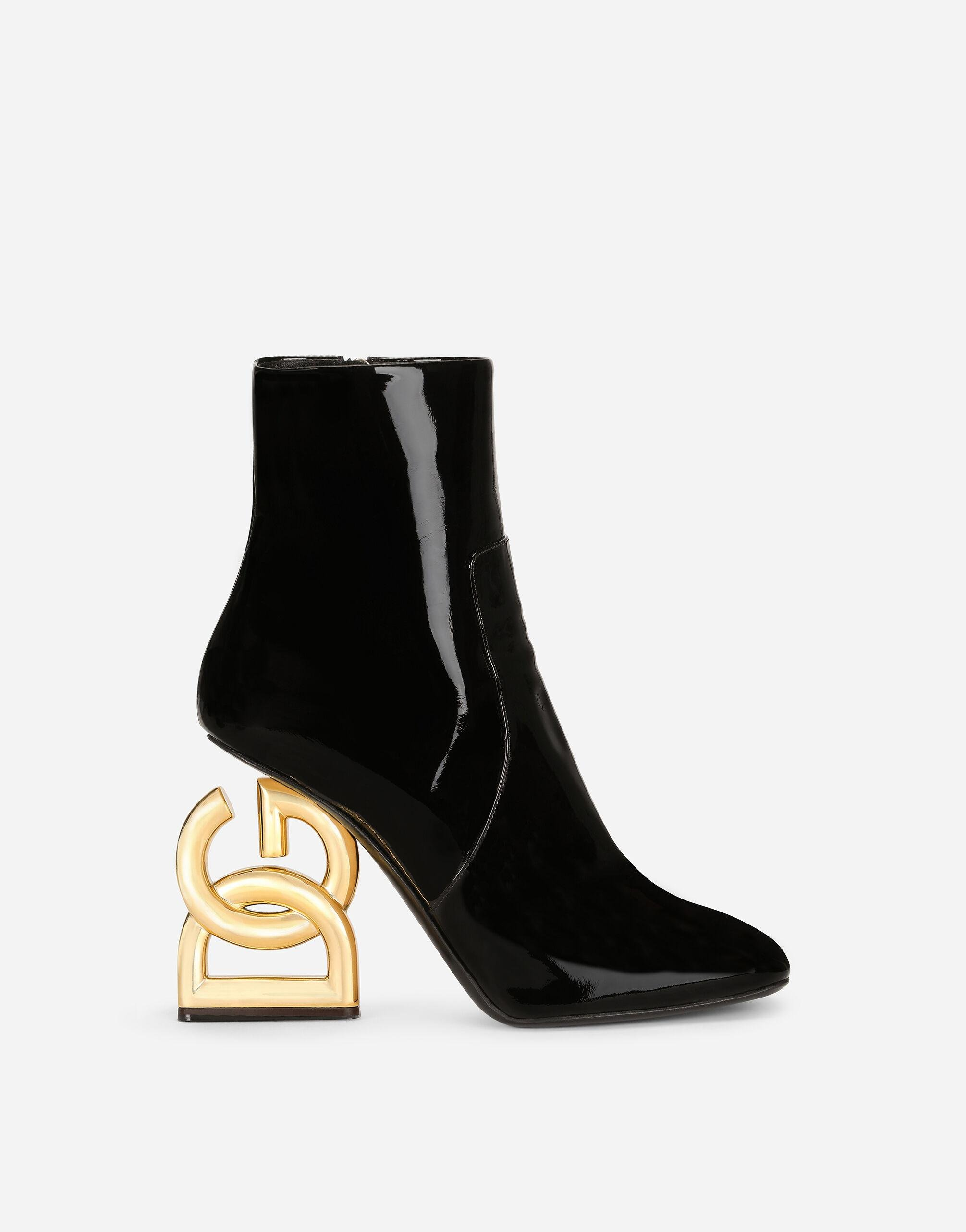 Patent leather ankle boots with DG Pop heel