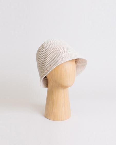 Connor Hat Cotton Blend Open Weave Ivory - SPECIAL PRICE