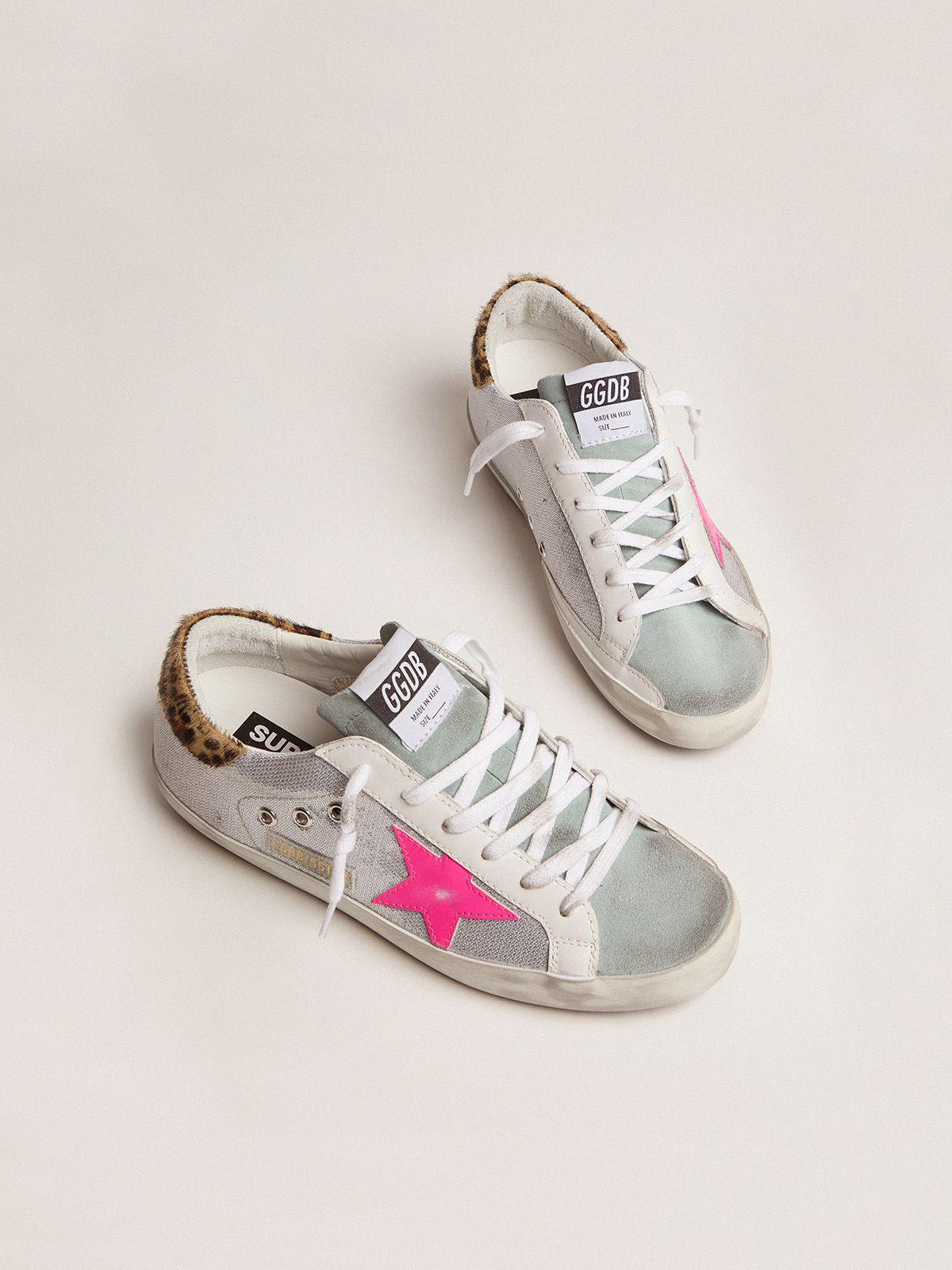 Super-Star sneakers with sequins and leopard-print heel tab 1