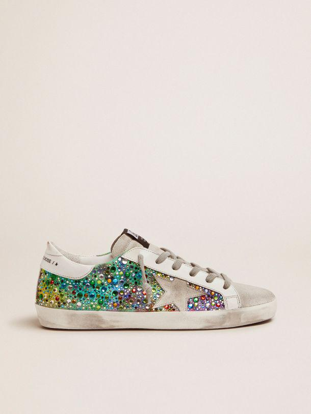 Super-Star sneakers with rainbow crystals