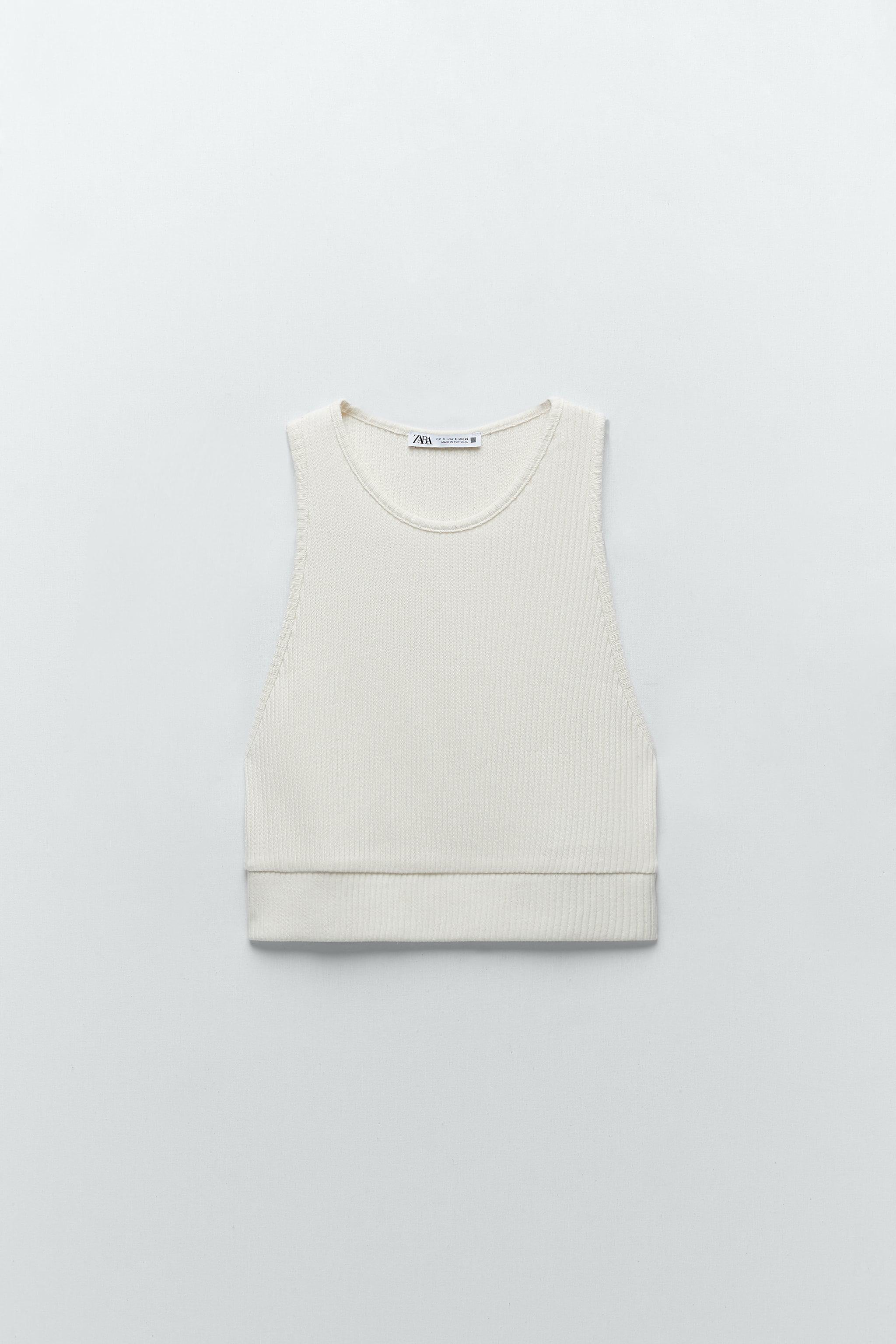 CROPPED RIBBED T-SHIRT 4