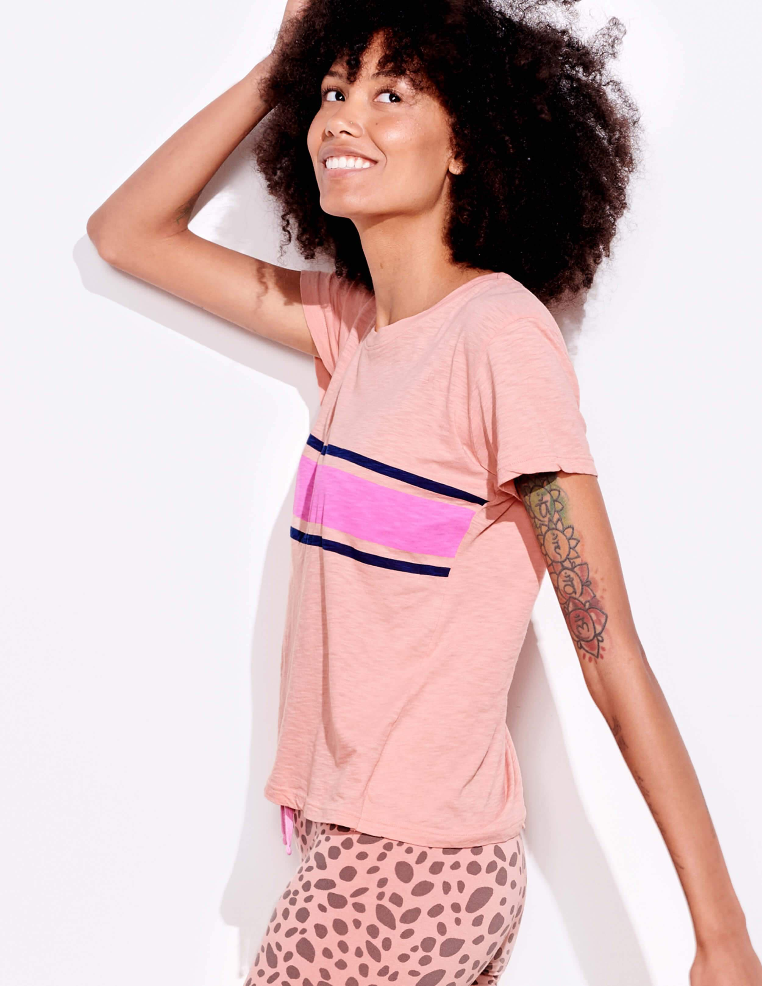 Two Color Stripes Vintage Tee 4
