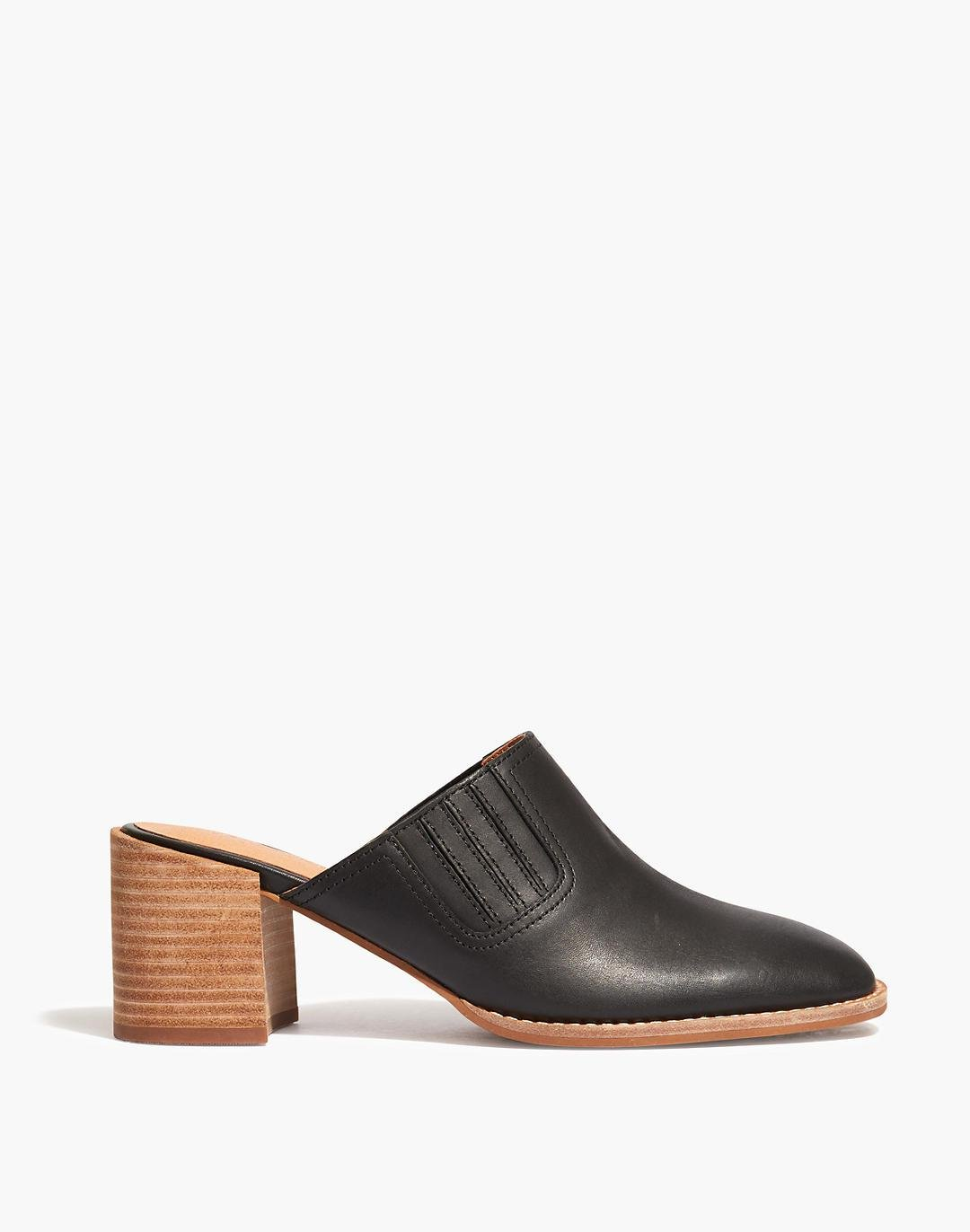 The Carey Mule in Leather 1
