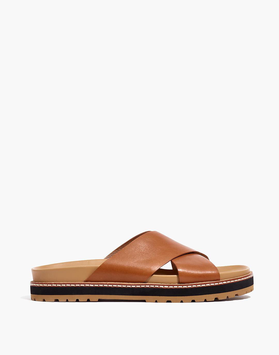 The Dayna Lugsole Slide Sandal in Leather 1