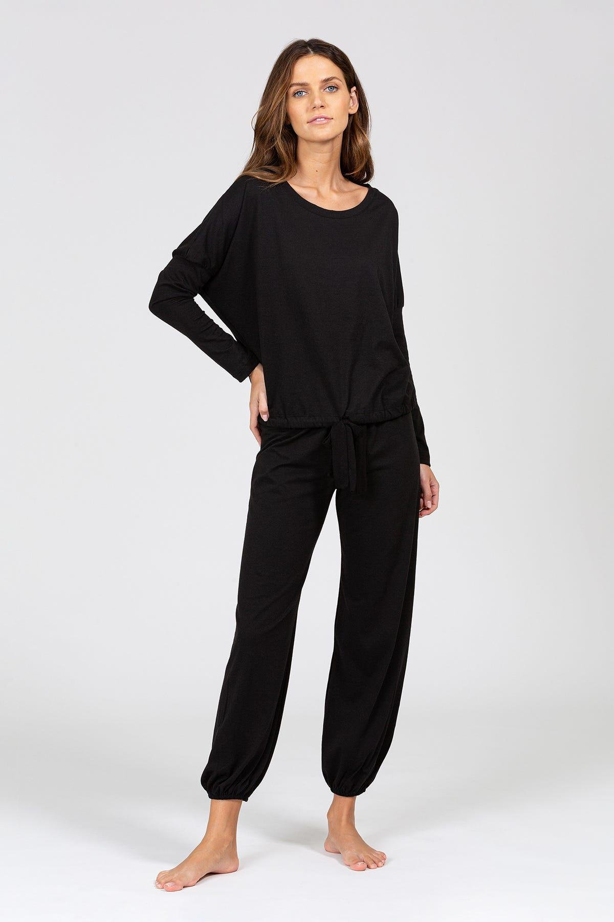 Heather Cotton Blend Slouchy Top