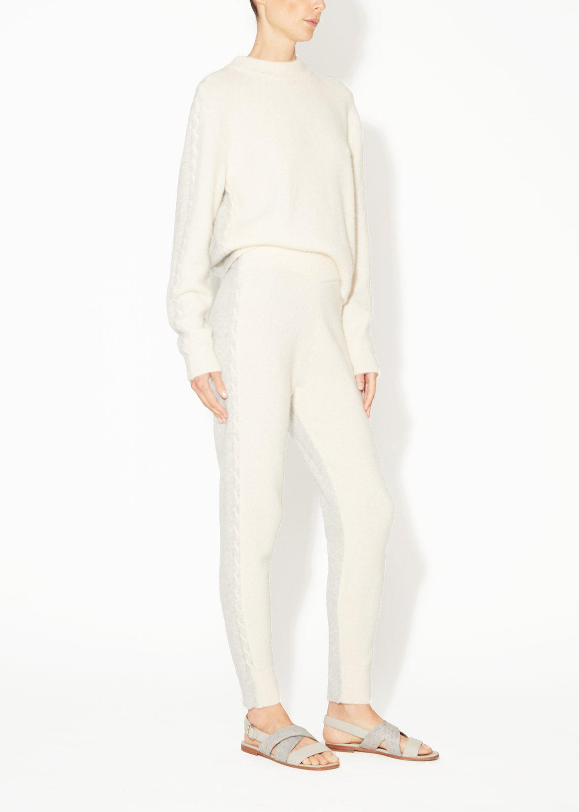 CABLE KNIT TRACK PANT IN BRUSHED CASHMERE