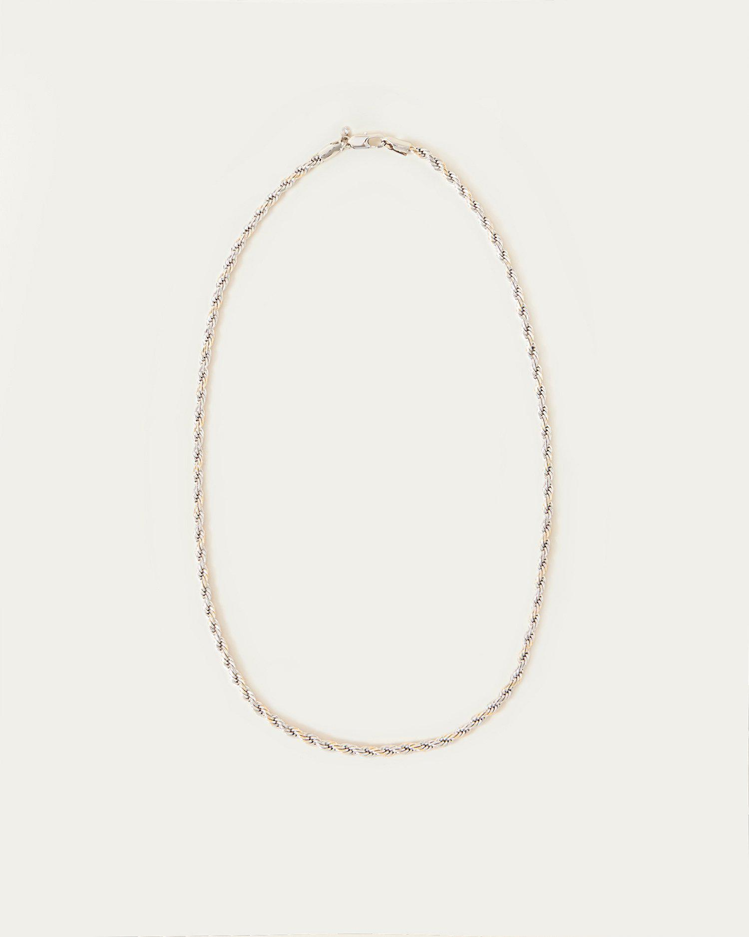 Sylvie Silver Twisted Chain Necklace