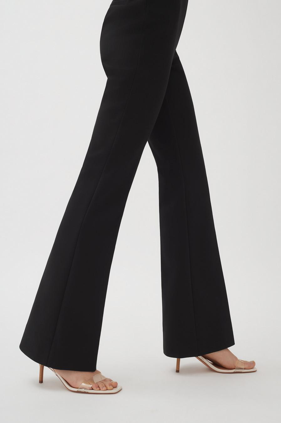Women's Cotton Twill Flared Pant in Black | Size: 3