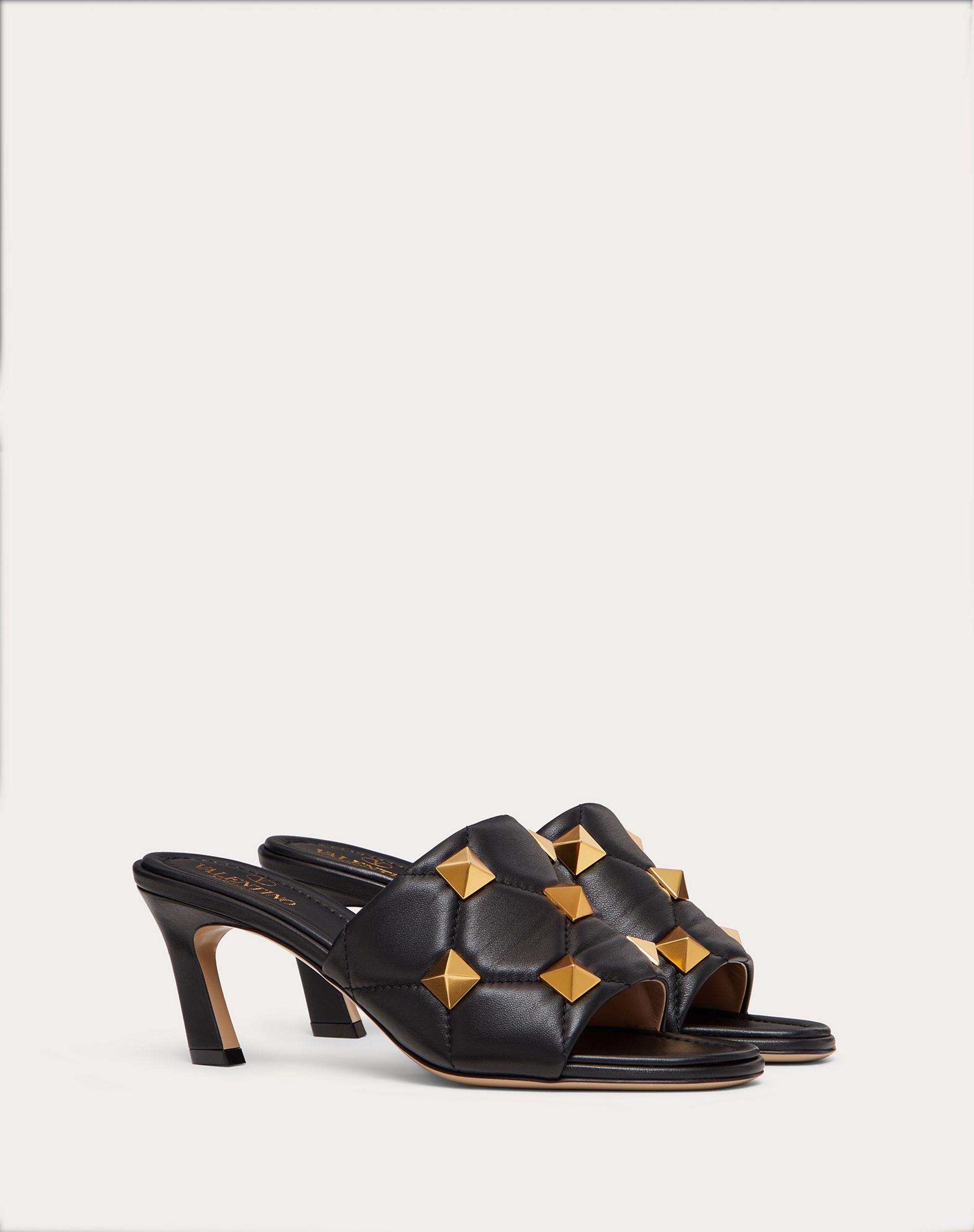 ROMAN STUD SLIDE SANDAL IN QUILTED NAPPA 65 MM 1