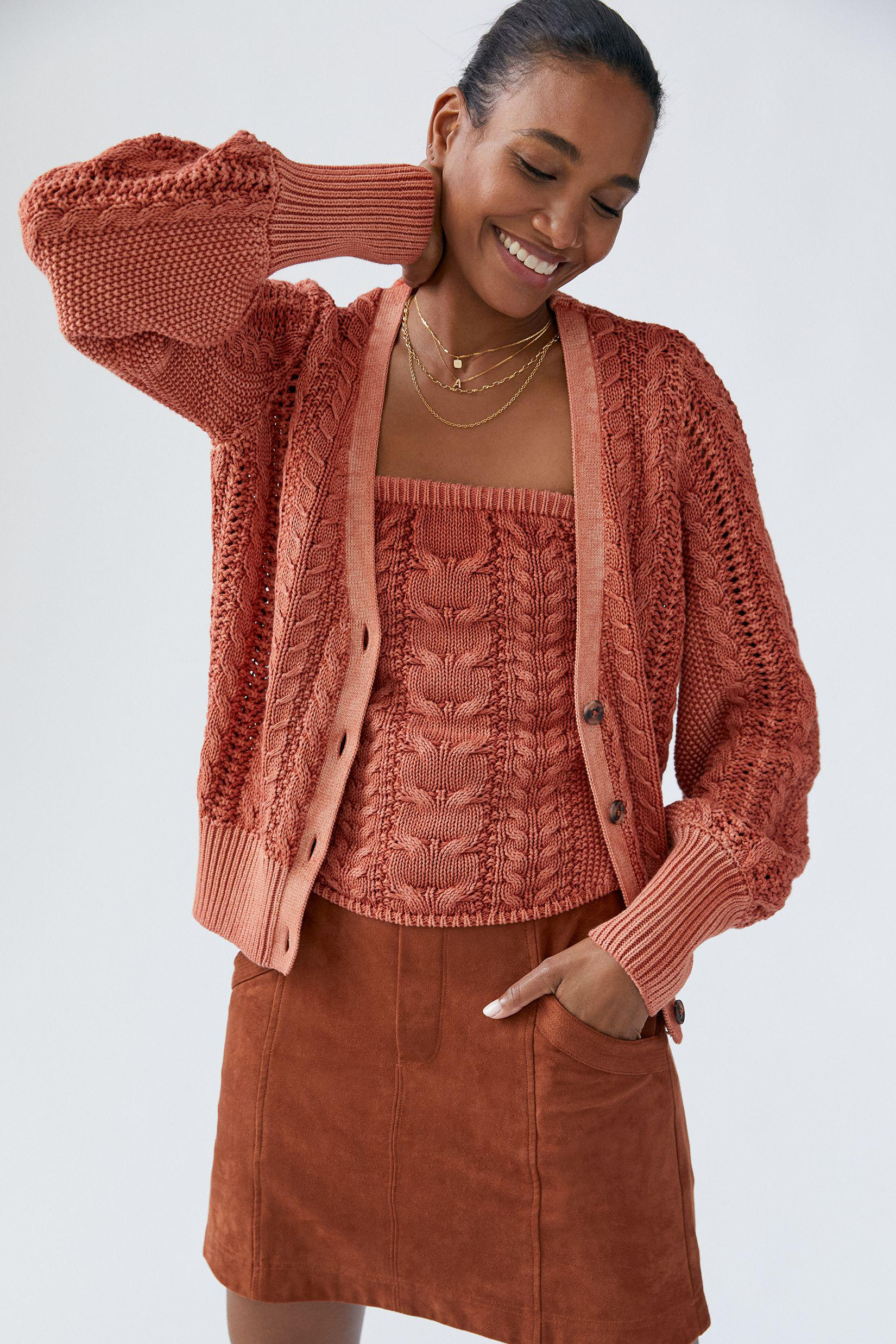 Cable-Knit Sweater Set