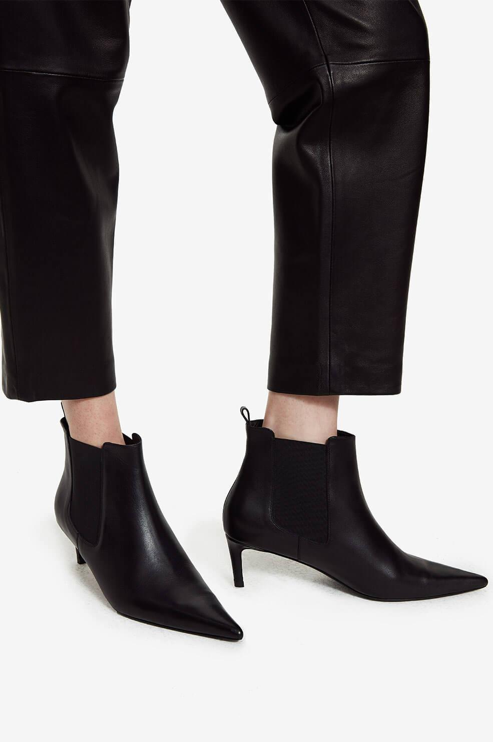 Stevie Boots - Black Leather 6