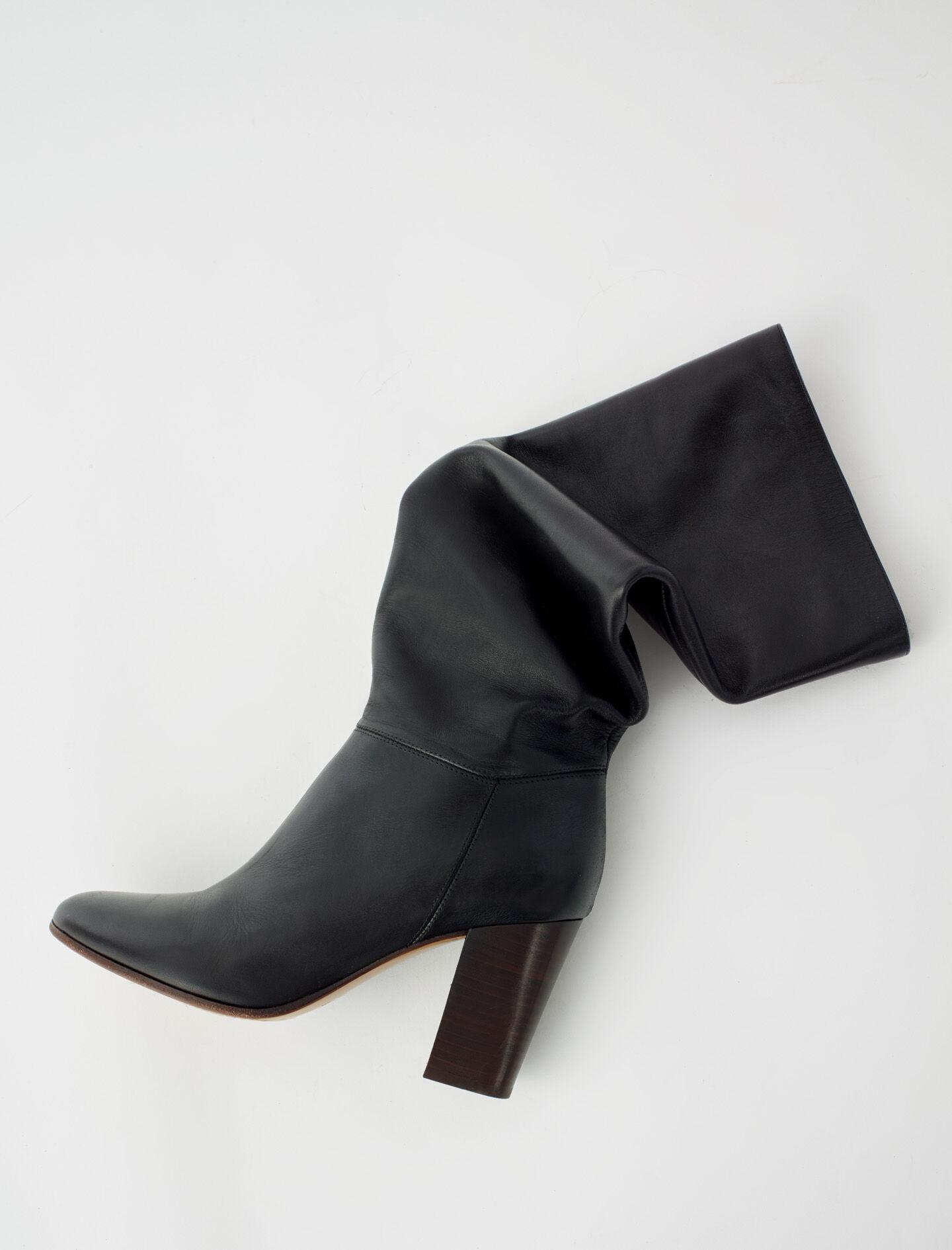 HEELED SMOOTH LEATHER BOOTS 1