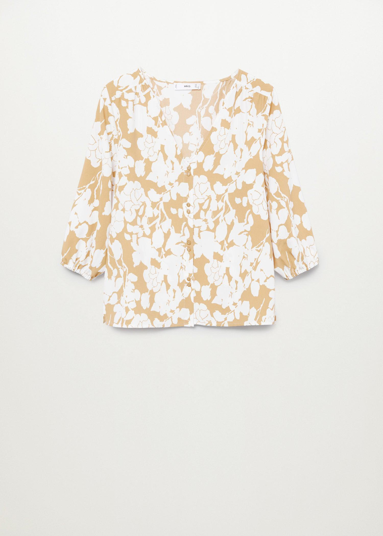 Buttoned flowy blouse 6