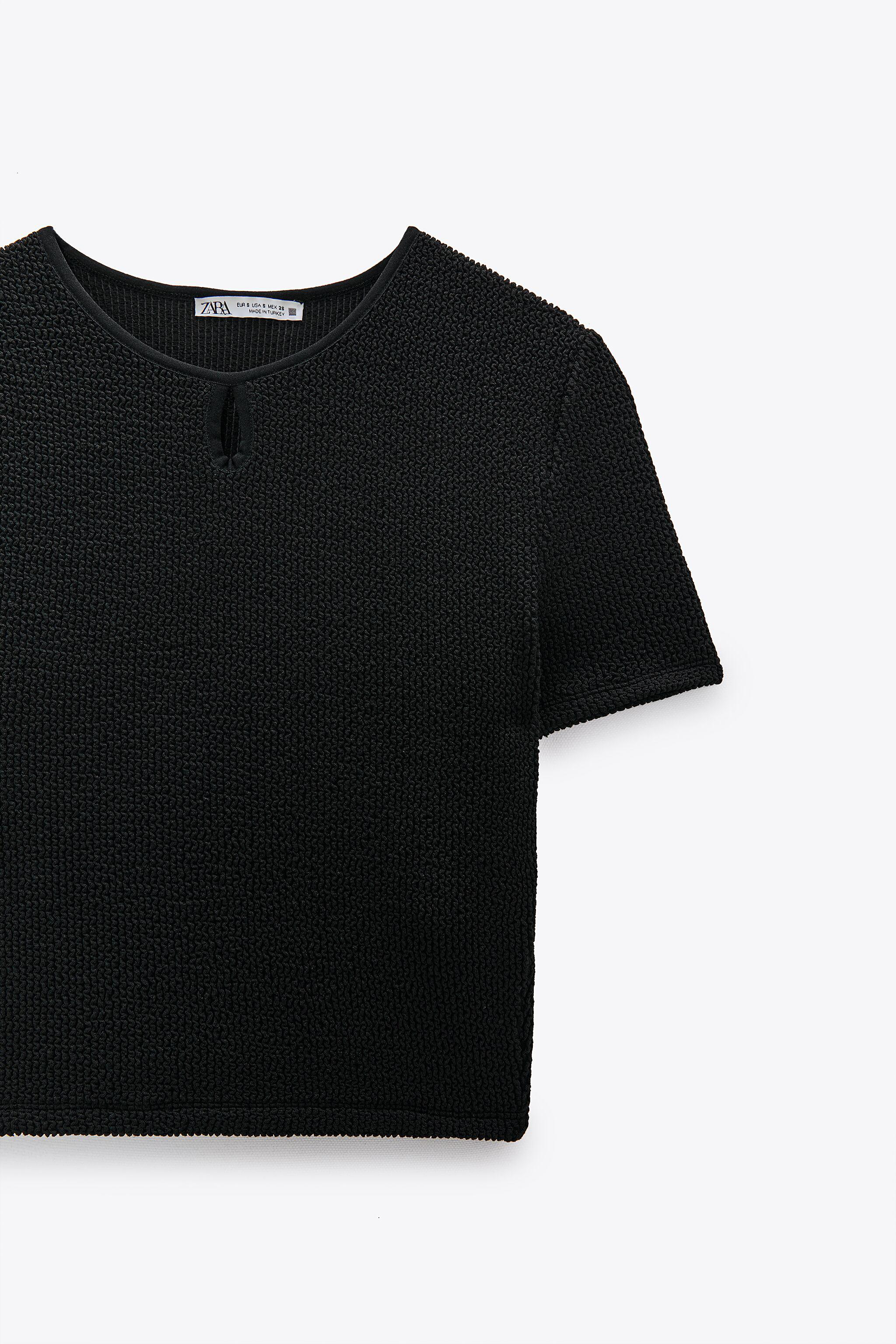 CROPPED TEXTURED WEAVE SHIRT 4